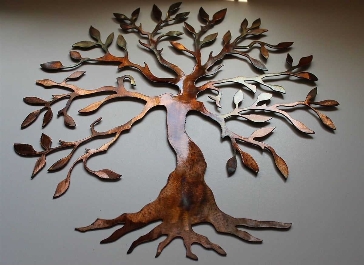 Olive Tree – Tree Of Life Metal Wall Art   Gift Ideas In Regarding Olive/gray Metal Wall Decor (View 5 of 30)