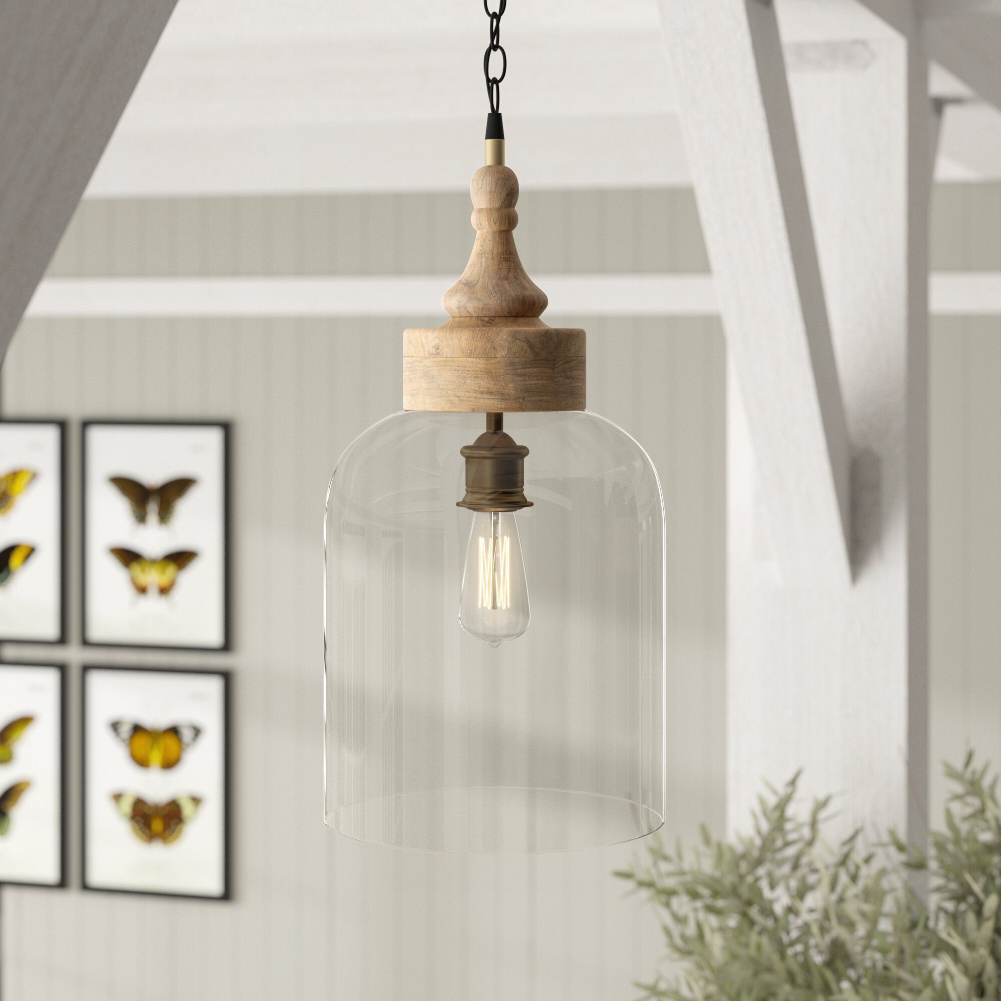 Olivo 1 Light Bell Pendant In Moyer 1 Light Single Cylinder Pendants (View 20 of 30)