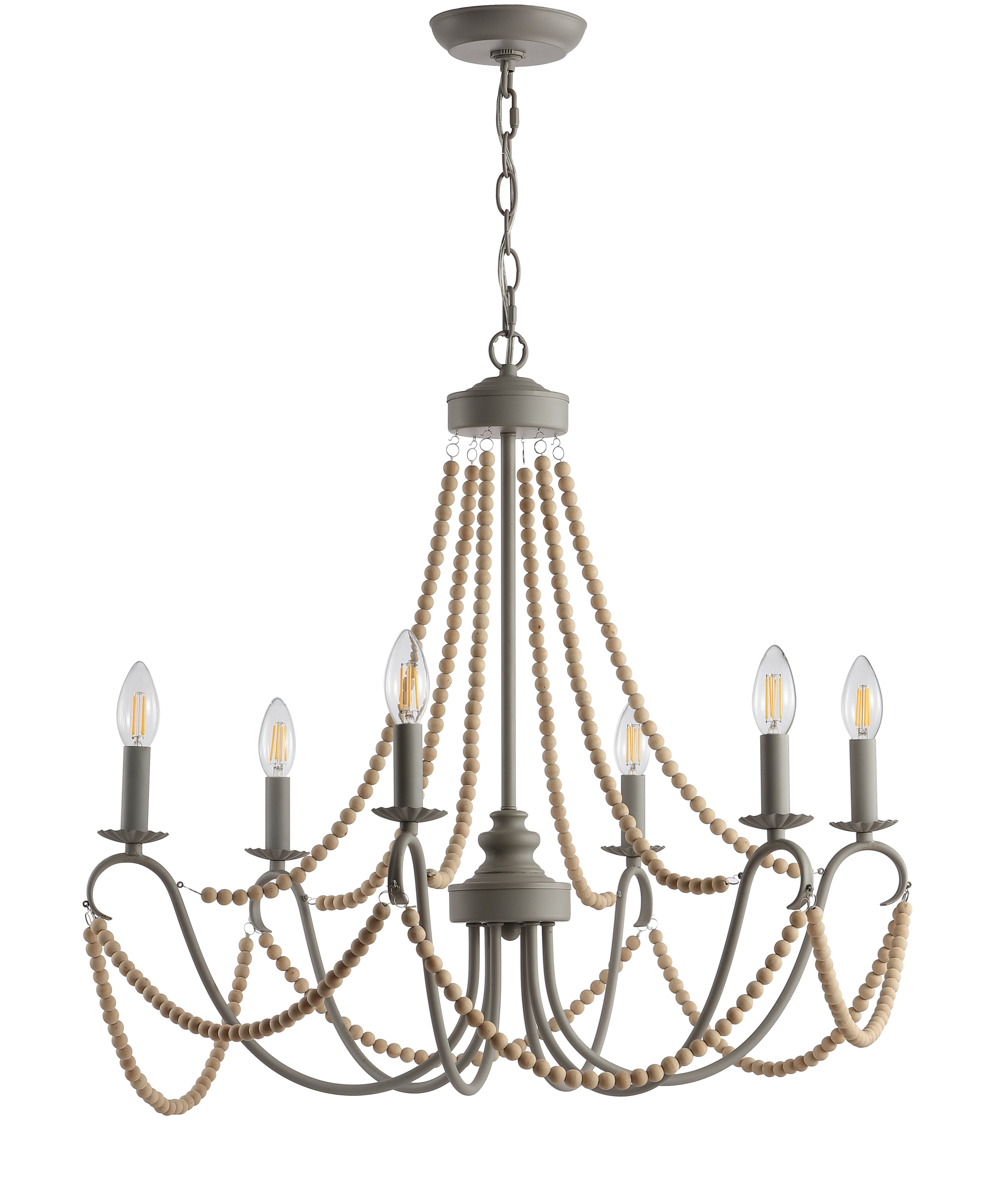 One Allium Way Carnes 6 Light Candle Style Chandelier Regarding Diaz 6 Light Candle Style Chandeliers (View 12 of 30)