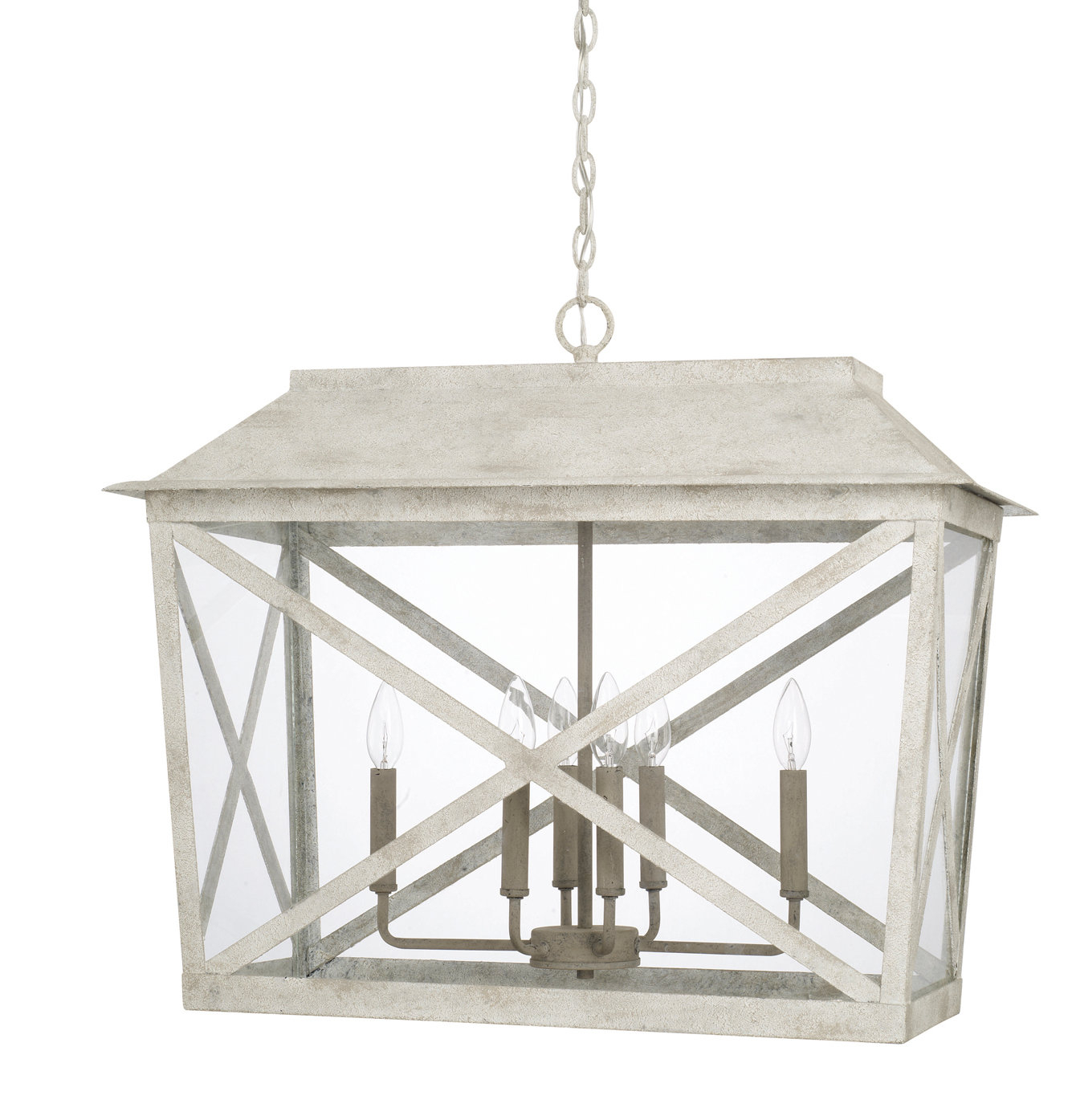 One Allium Way Isabelle 6 Light Lantern Pendant | Wayfair (View 18 of 30)