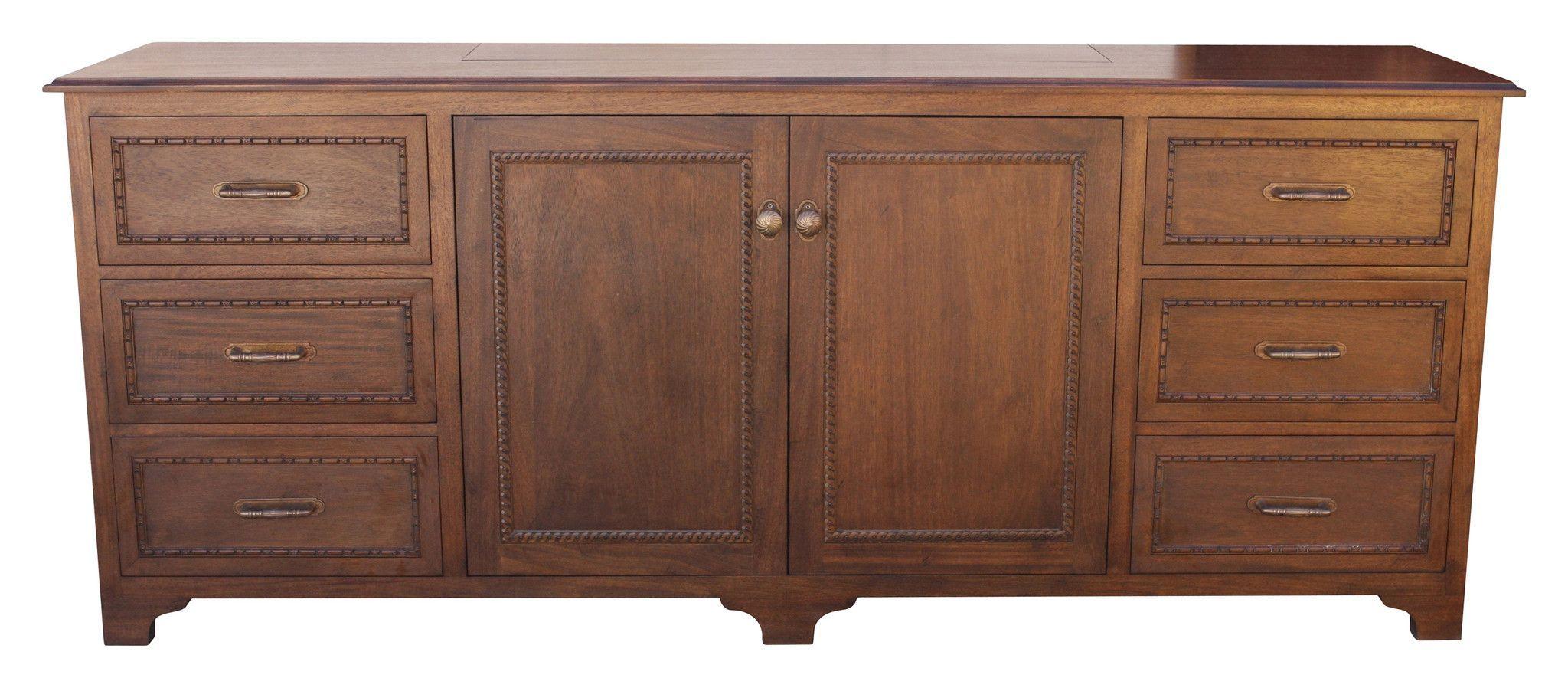 One Kings Lane Beulah 3-Door Cabinet - Pecan In 2019 for Chaffins Sideboards (Image 26 of 30)