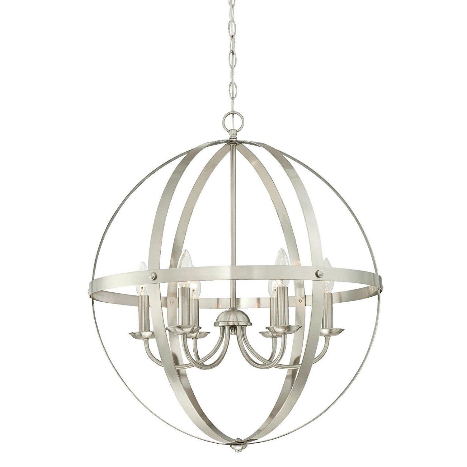 Open Cage Chandelier — Perfect For Vintage Inspired Regarding La Barge 3 Light Globe Chandeliers (View 16 of 30)