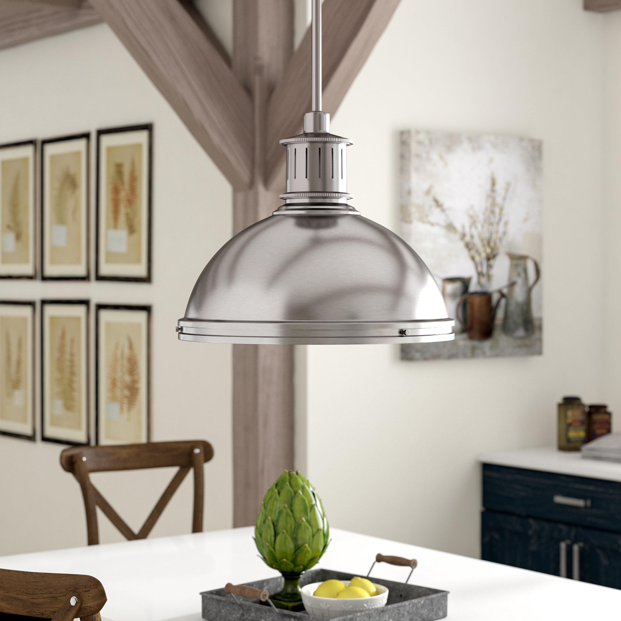 Orchard Hill 1 Light Led Dome Pendant In Amara 3 Light Dome Pendants (Image 22 of 30)