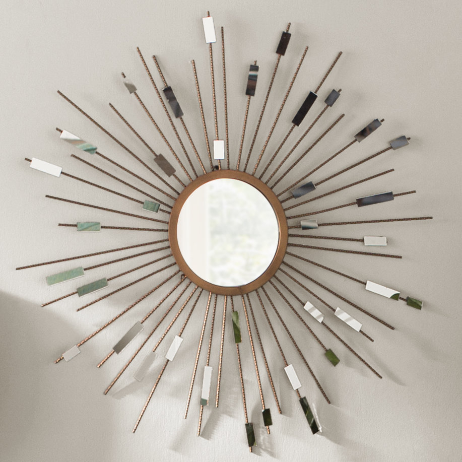 Orion Starburst Wall Mirror pertaining to Jarrod Sunburst Accent Mirrors (Image 24 of 30)