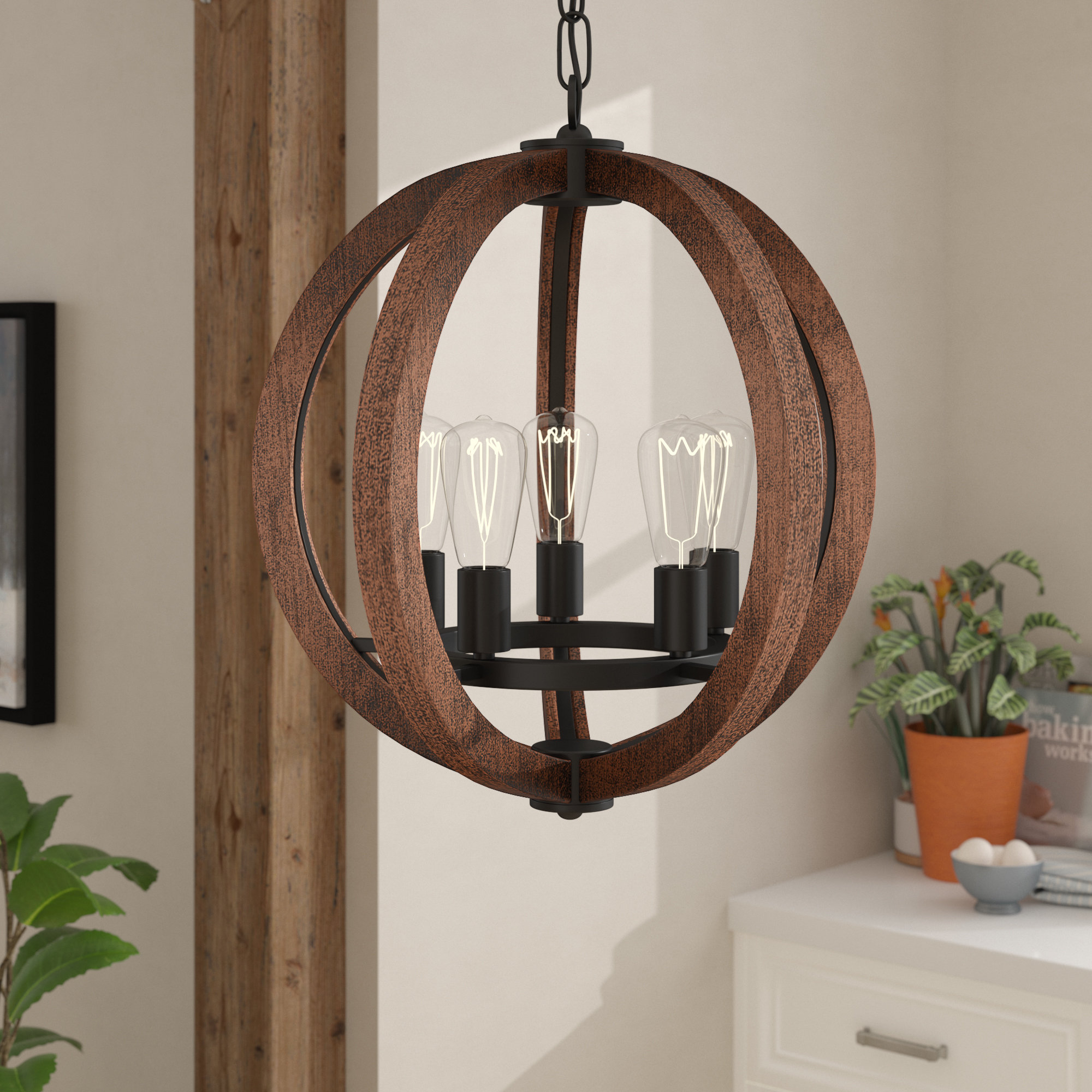 Orly 5 Light Globe Chandelier Pertaining To Filipe Globe Chandeliers (View 15 of 30)