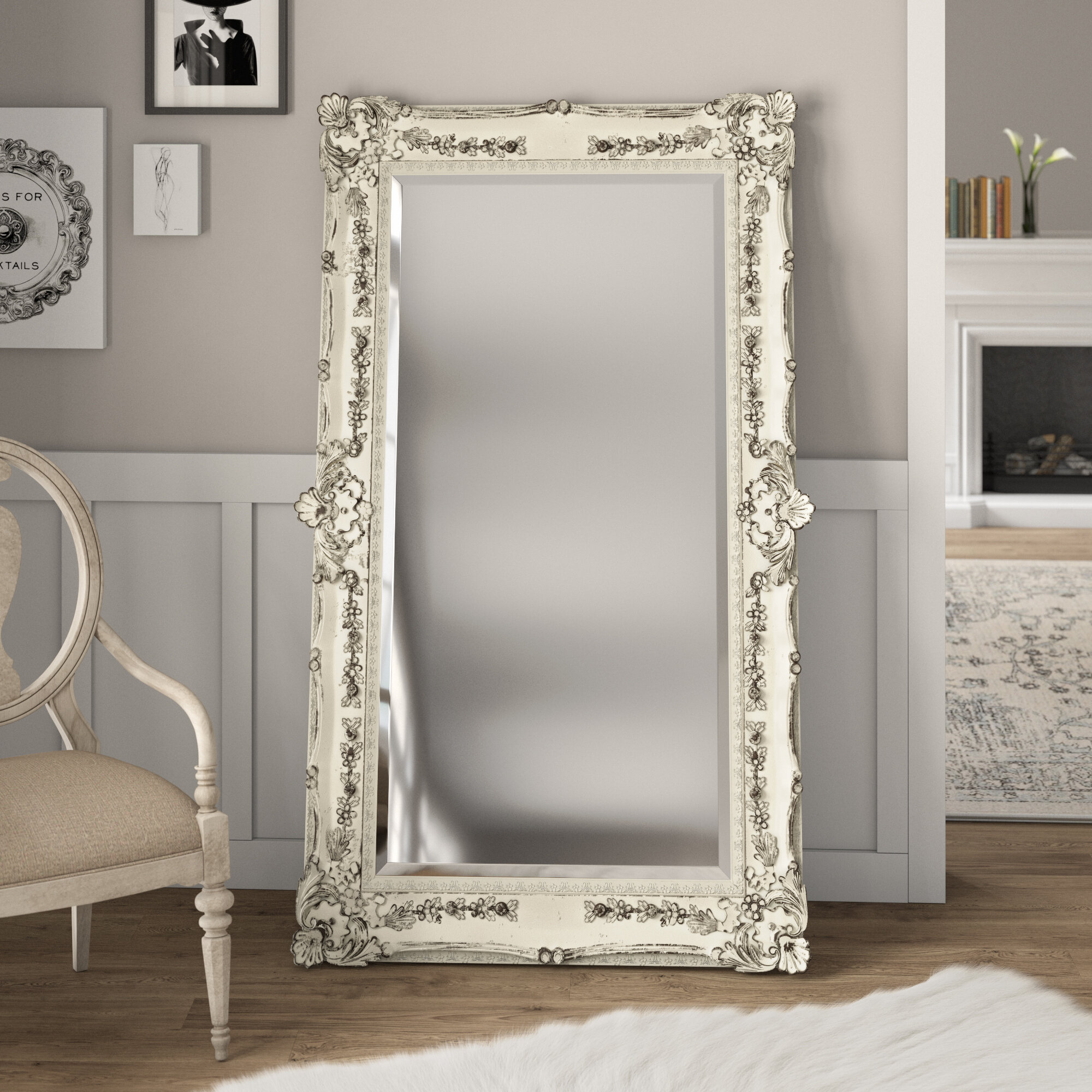 Ornate Full Length Mirror | Wayfair With Handcrafted Farmhouse Full Length Mirrors (View 23 of 30)