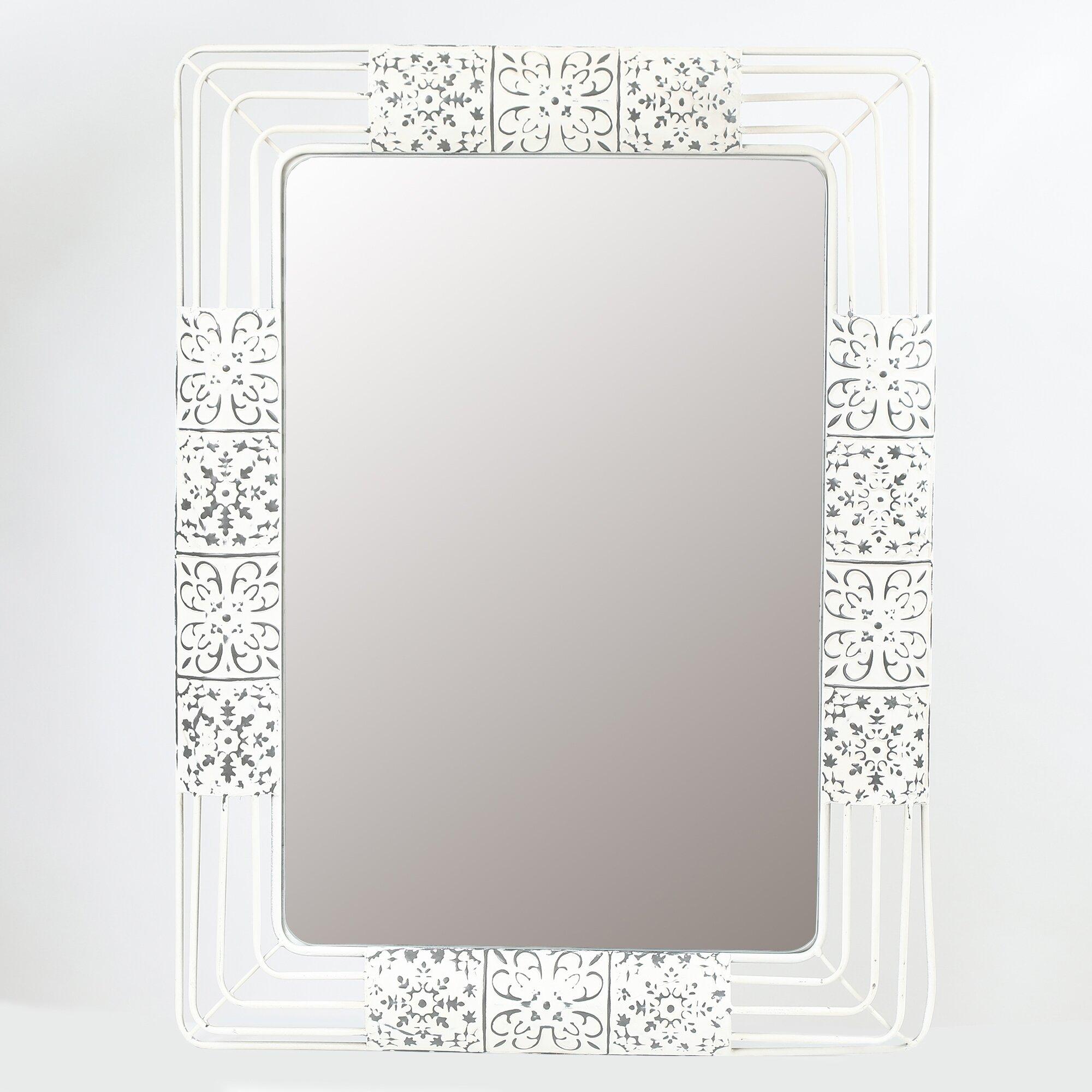 Ornate Mirror | Wayfair inside Rectangle Ornate Geometric Wall Mirrors (Image 18 of 30)