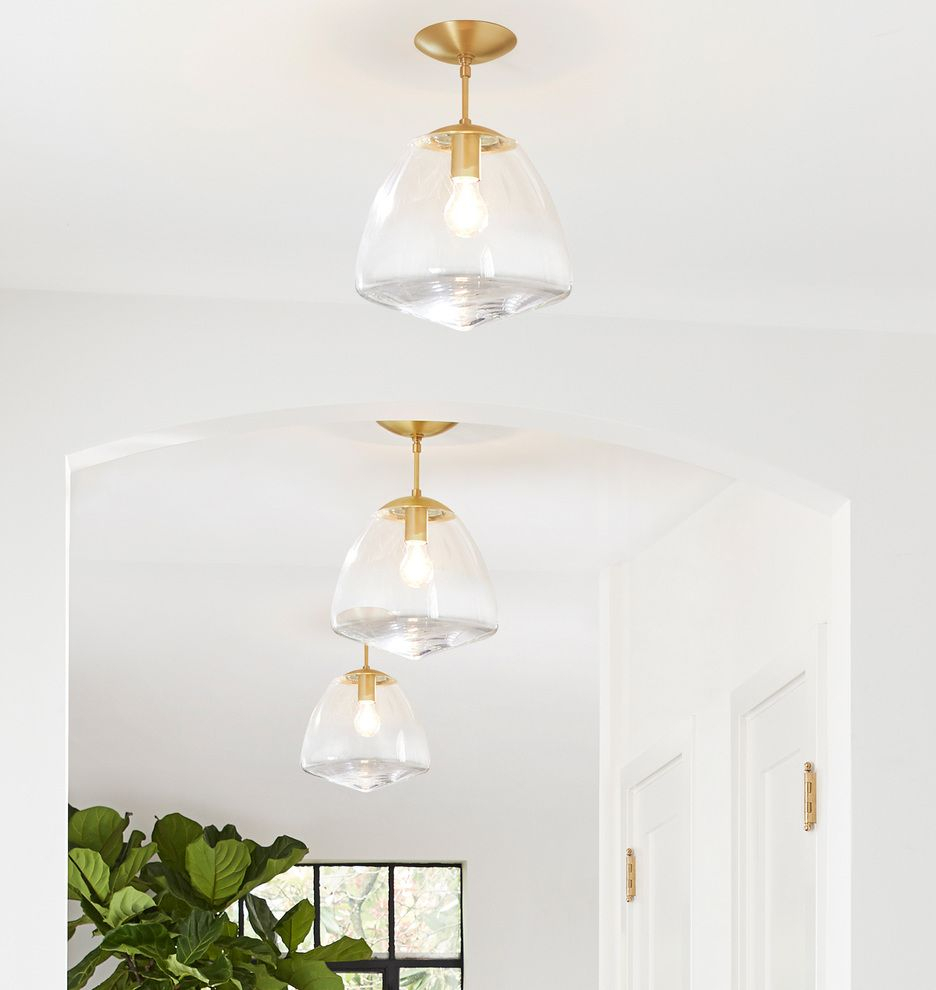 "Oswego 12"" Clear Dome Pendant 