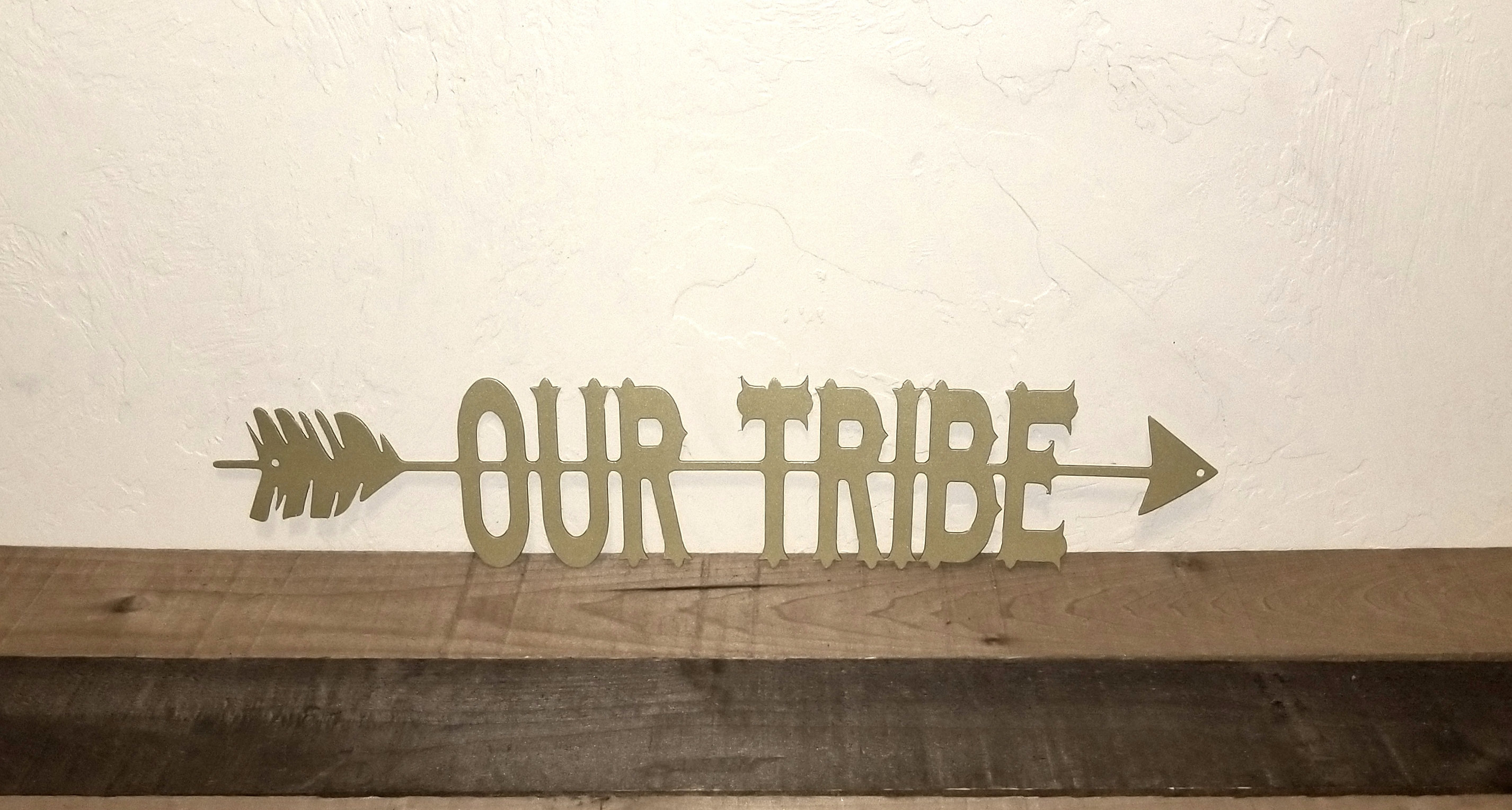 Our Tribe Sign Arrow Wall Decor, Arrow Wall Art, Split Arrow Metal Wall Art, Metal Wall Word, Cutouts With Saying Custom Art Tribe Decor With Regard To Brown Metal Tribal Arrow Wall Decor (View 17 of 30)