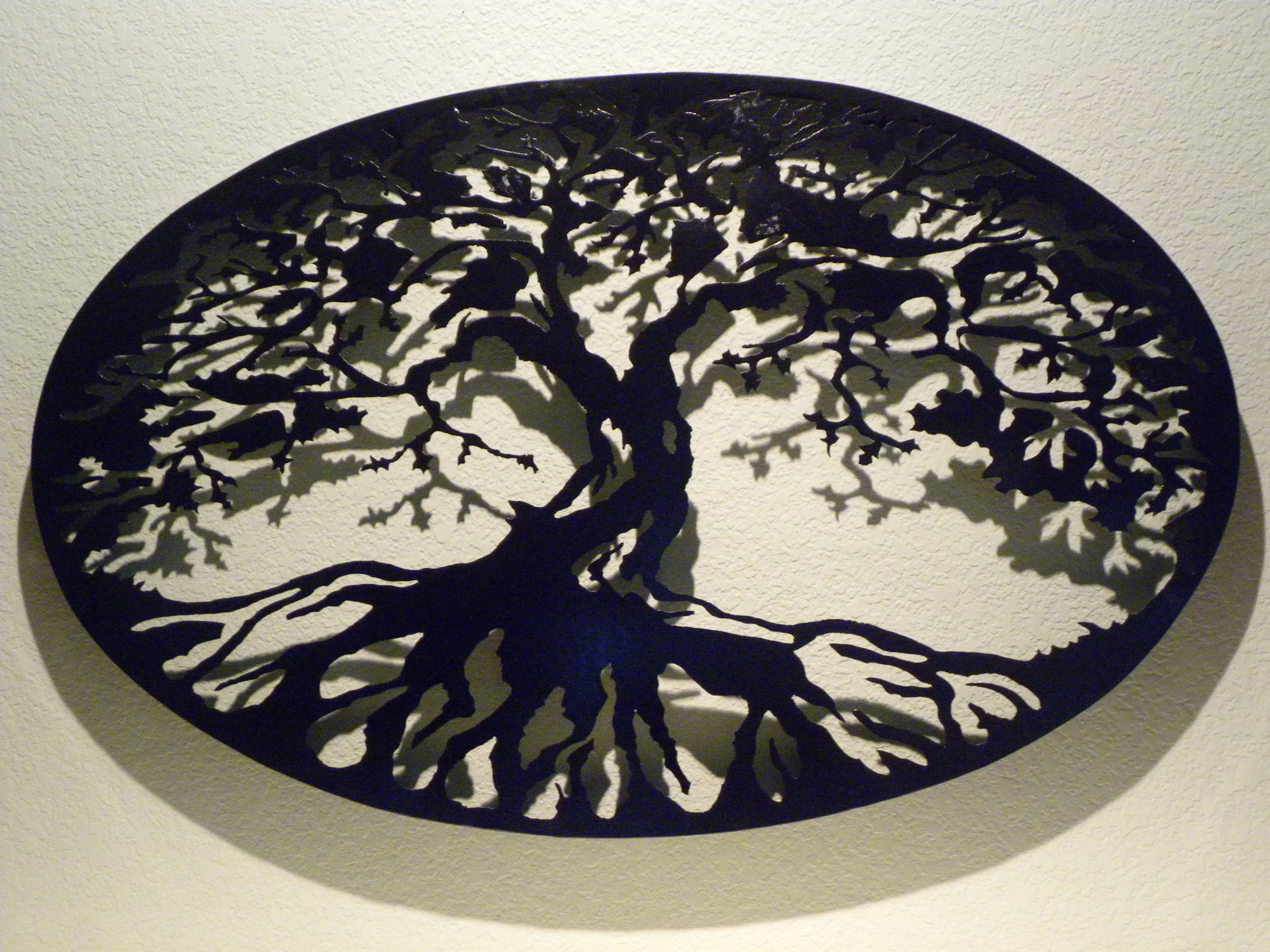 Oval Tree Of Life Metal Wall Art With Regard To Tree Of Life Wall Decor (View 15 of 30)