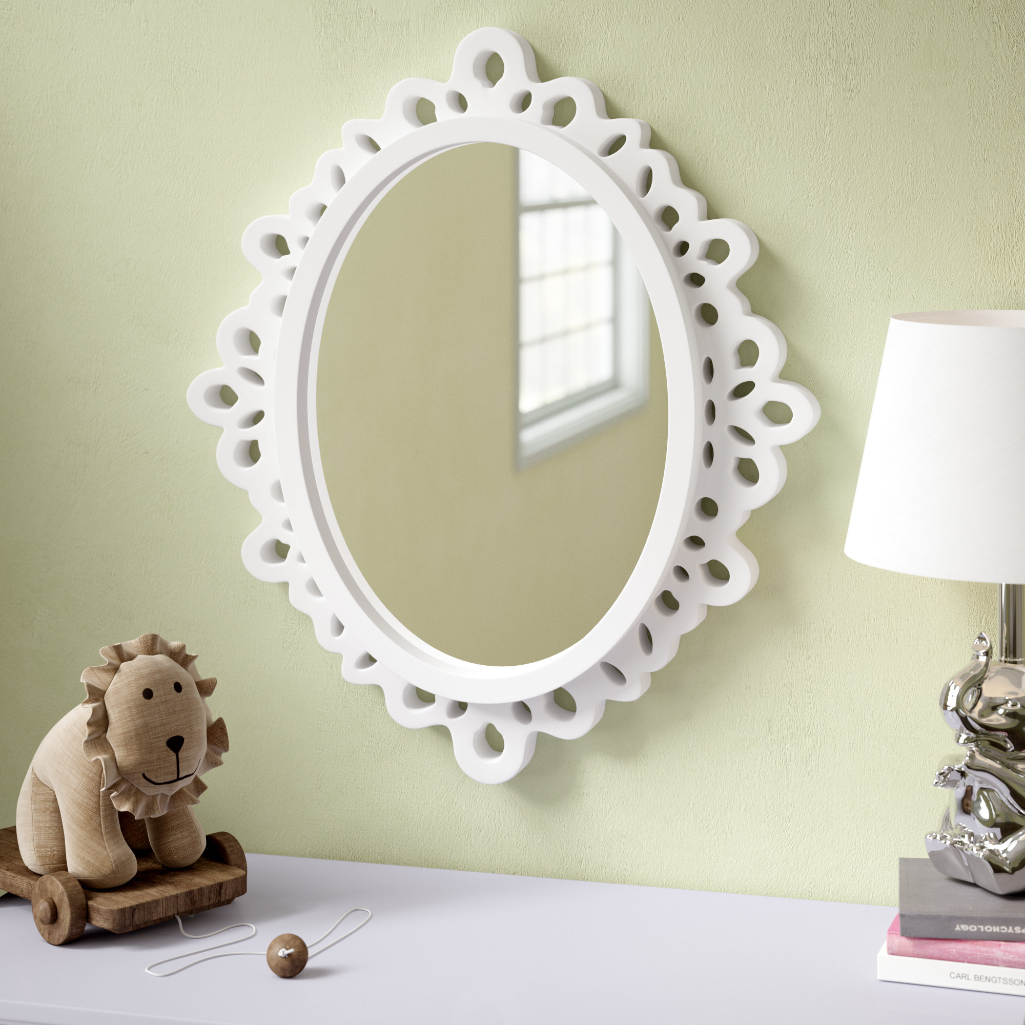 Oval Wood Lace Wall Mirror Intended For Oval Wood Wall Mirrors (View 18 of 30)