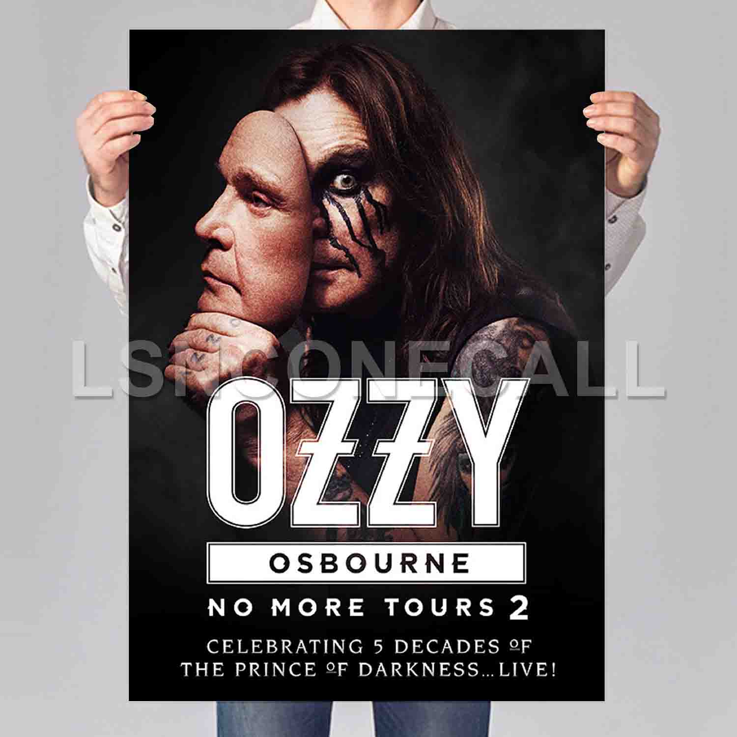 Ozzy Osbourne No More Tours 2 Poster Print Art Wall Decor with regard to Osbourne Wall Decor (Image 18 of 30)