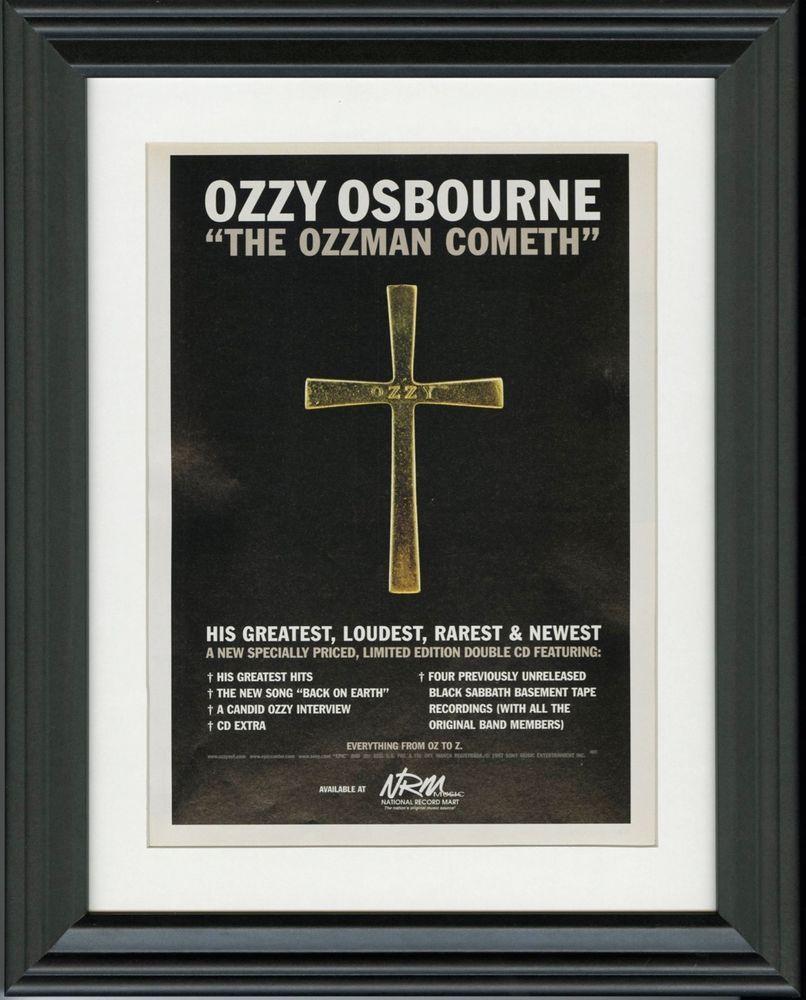 Ozzy Osbourne ~ The Ozzman Cometh ~ Framed Music Release Inside Osbourne Wall Decor (View 4 of 30)
