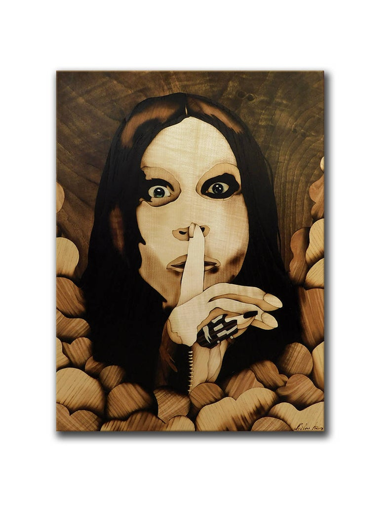 Ozzy Osbourne Wood Marquetry Original Home Decoration From Wood Handmade Wall Hanging, Room Decor, Holiday Gift Singer Starandulino Throughout Osbourne Wall Decor (View 21 of 30)