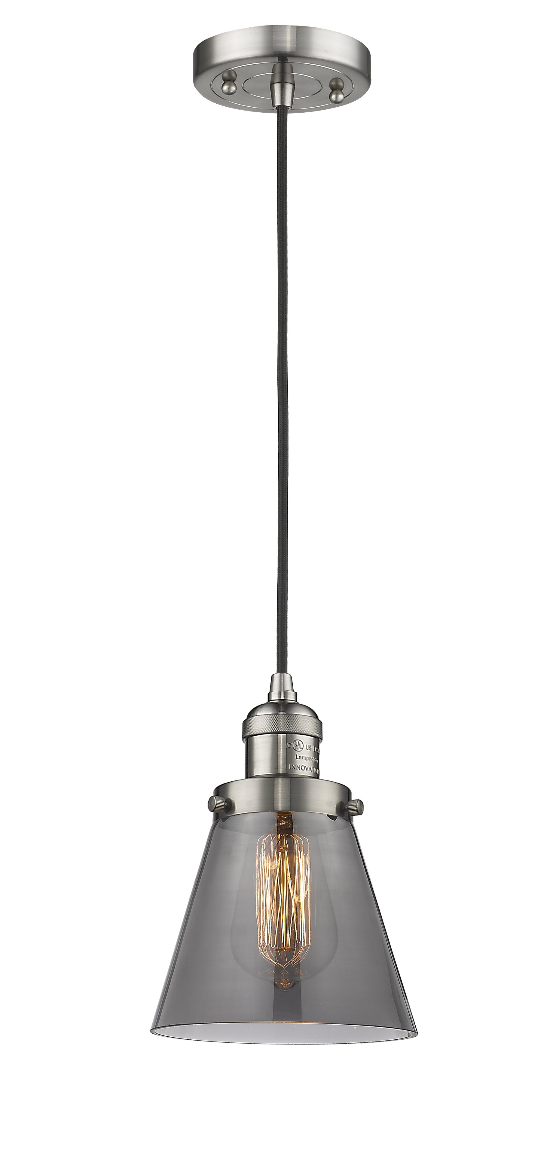 Pachna 1 Light Single Cone Pendant Throughout Sargent 1 Light Single Bell Pendants (View 21 of 30)