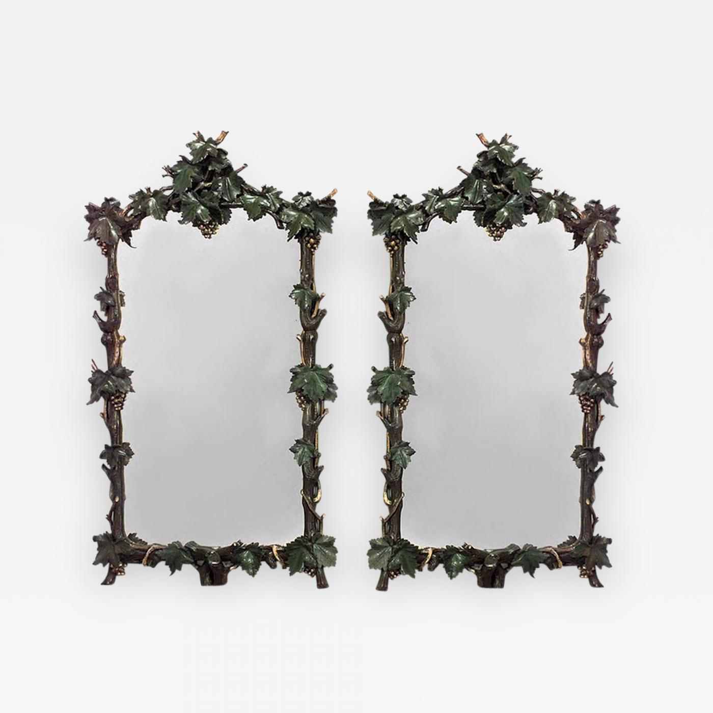 Pair Of Rustic Continental Vertical Wall Mirrors with regard to Arch Vertical Wall Mirrors (Image 24 of 30)