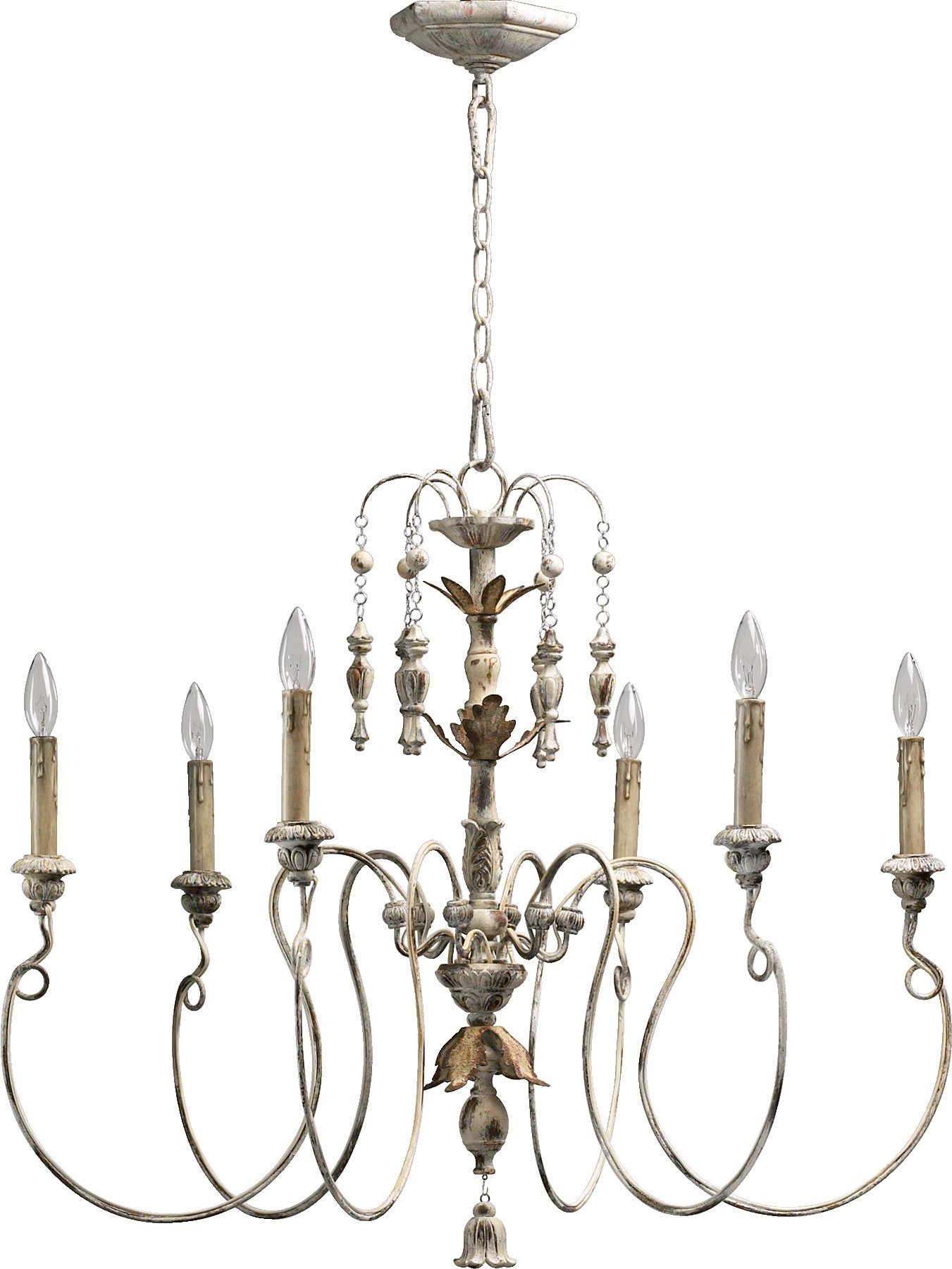 Paladino 6-Light Chandelier intended for Corneau 5-Light Chandeliers (Image 23 of 30)