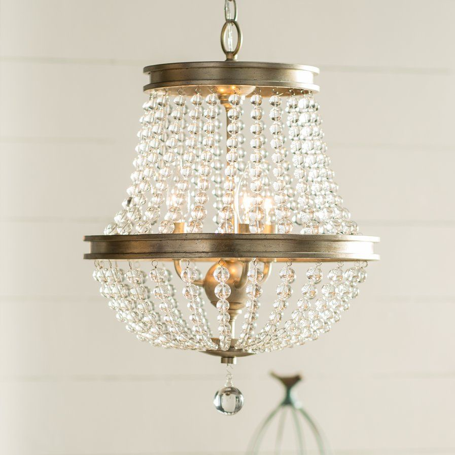 Papadopoulos 3 Light Crystal Chandelier $149 On Sale Birch For Bramers 6 Light Novelty Chandeliers (View 10 of 30)