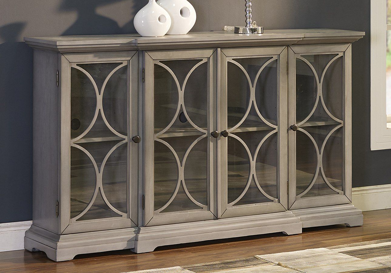 Paradiso Credenza W/ 4 Doors | Furniture | New Classic With Elyza Credenzas (View 10 of 30)