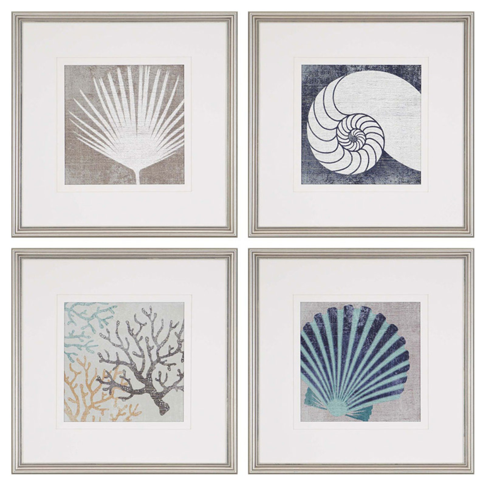Paragon Coastal Ii Framed Wall Art – Set Of 4 In 2019 For 4 Piece Metal Wall Decor Sets (View 13 of 30)