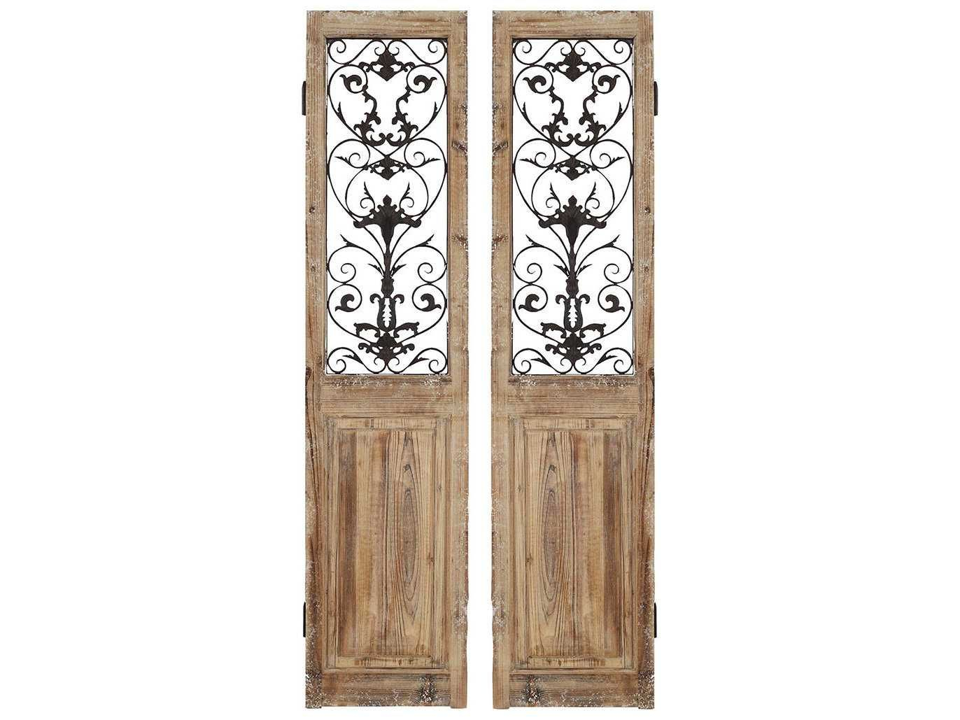 Paragon Rustic Doors 2 Panel Room Divider (two Piece Set In 2 Piece Panel Wood Wall Decor Sets (set Of 2) (View 18 of 30)