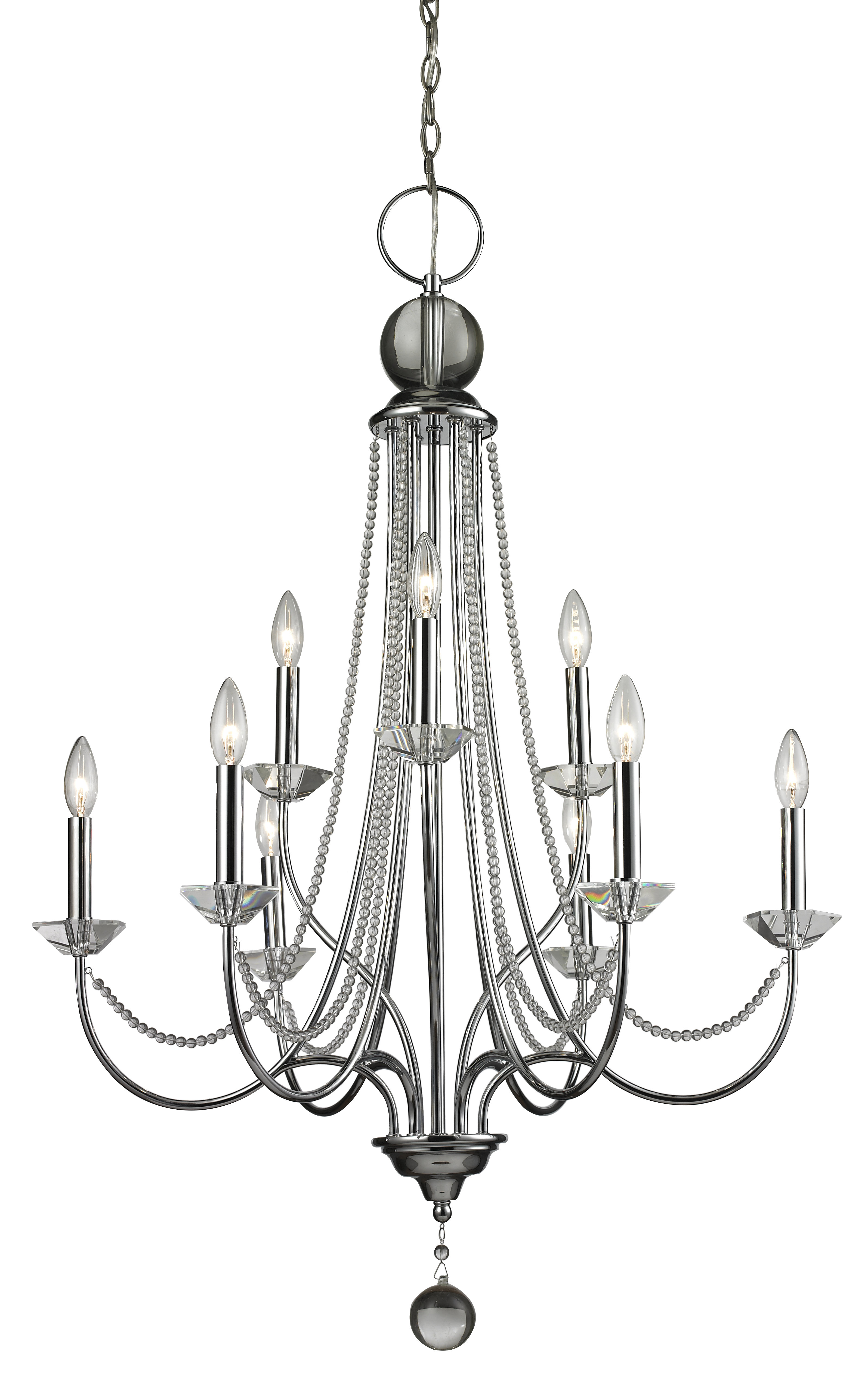 Patrice 9 Light Candle Style Chandelier In Gaines 9 Light Candle Style Chandeliers (View 11 of 30)