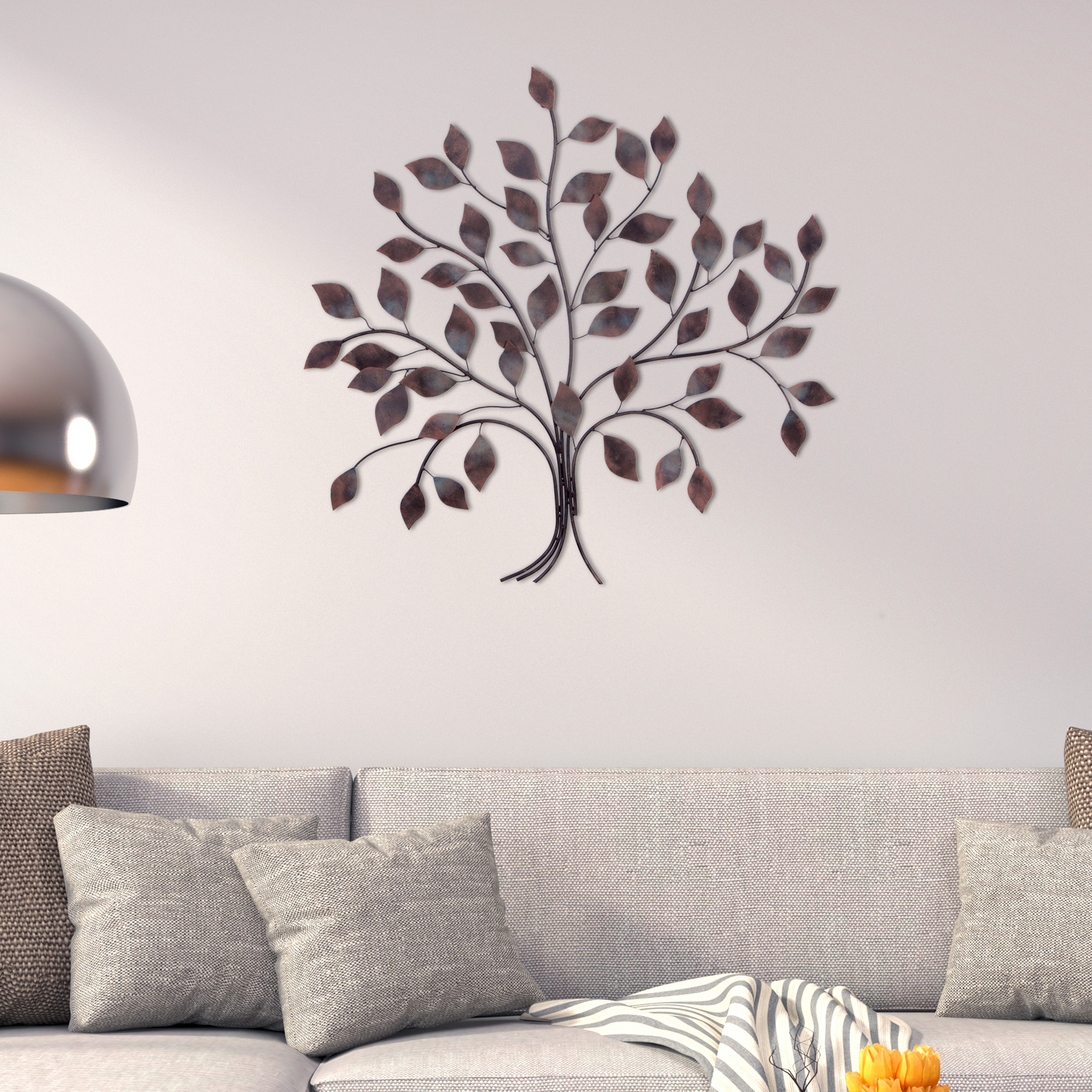 Patton Wall Decor Bronze Tree Branch Decorative Metal Wall Décor Regarding Oil Rubbed Metal Wall Decor (View 4 of 30)