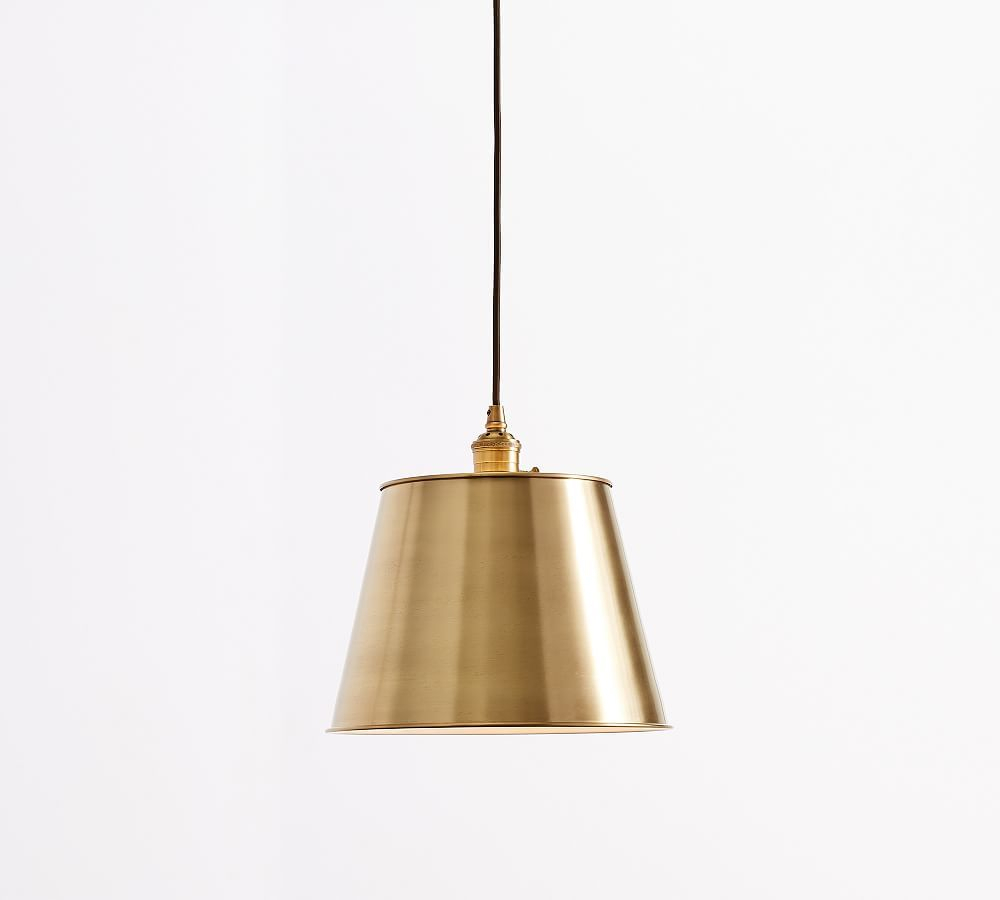 Pb Classic Cord Pendant – Tapered Metal Shade | Products In Pertaining To Nadeau 1 Light Single Cone Pendants (View 9 of 30)