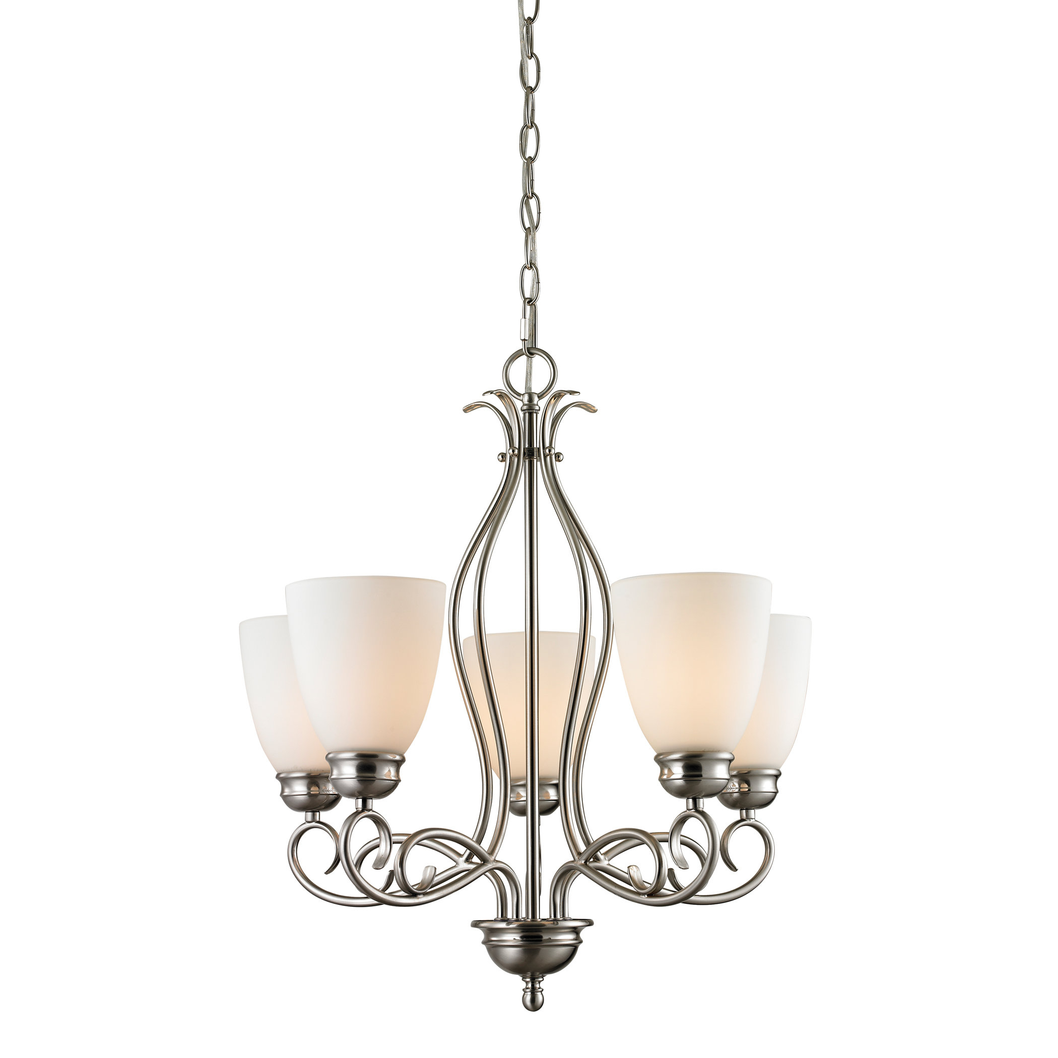 Pearlie 5 Light Shaded Chandelier Pertaining To Gaines 5 Light Shaded Chandeliers (View 14 of 30)