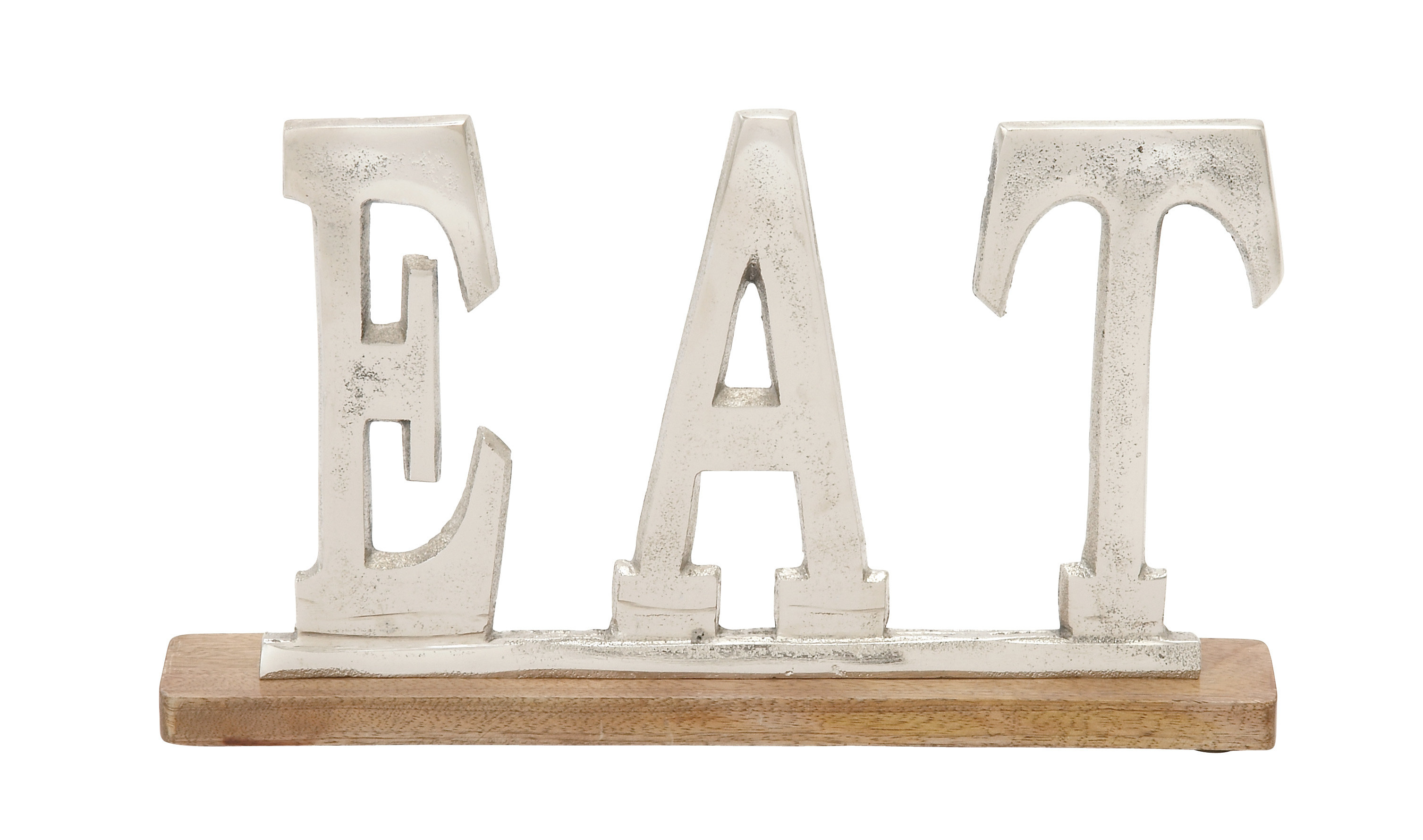 """Peck Silver Eat Letter Block In Grey """"eat"""" Sign With Rebar Decor (View 11 of 30)"""