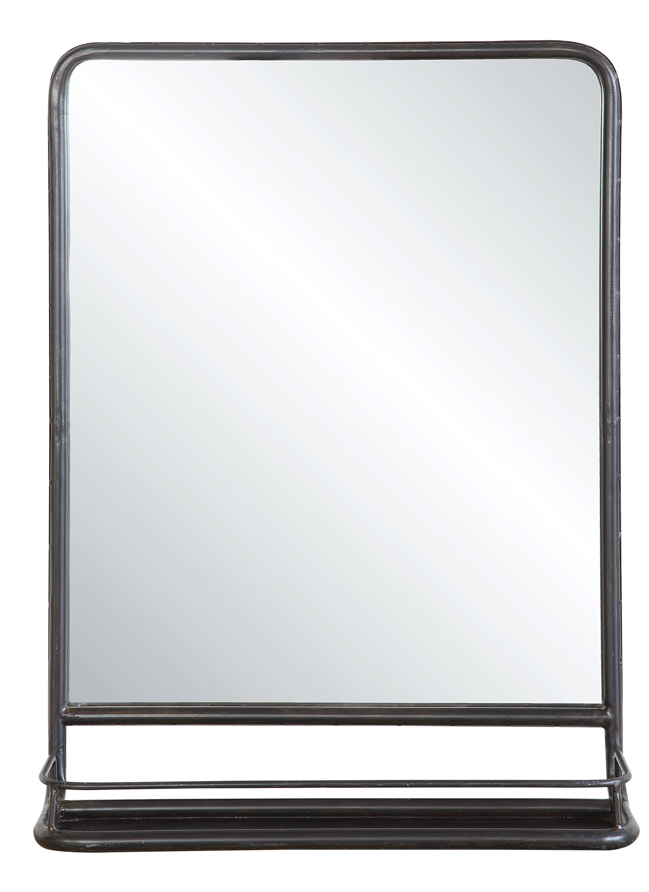 Peetz Modern Rustic Accent Mirror Regarding Peetz Modern Rustic Accent Mirrors (View 4 of 30)