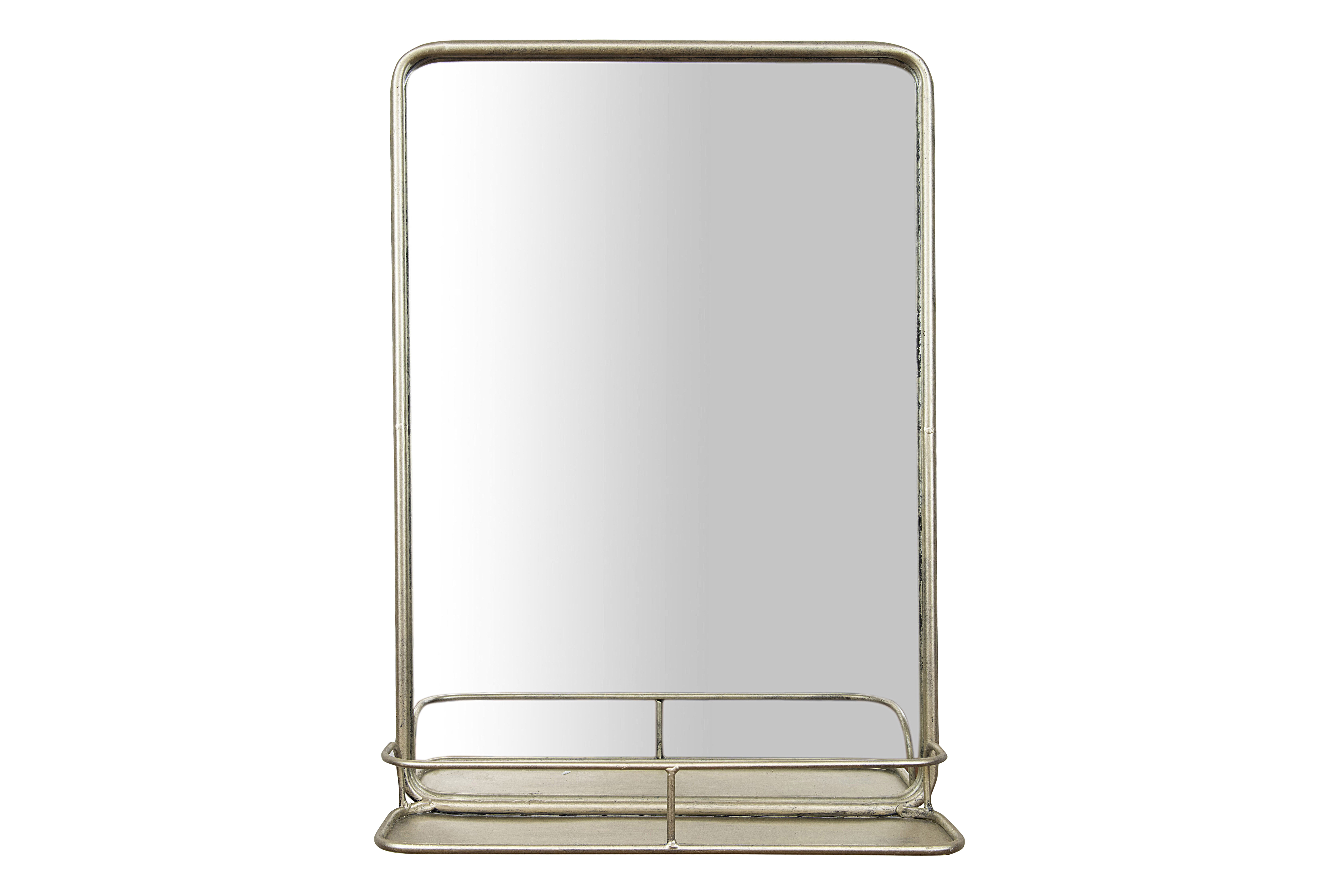 Peetz Modern Rustic Accent Mirror with regard to Koeller Industrial Metal Wall Mirrors (Image 20 of 30)