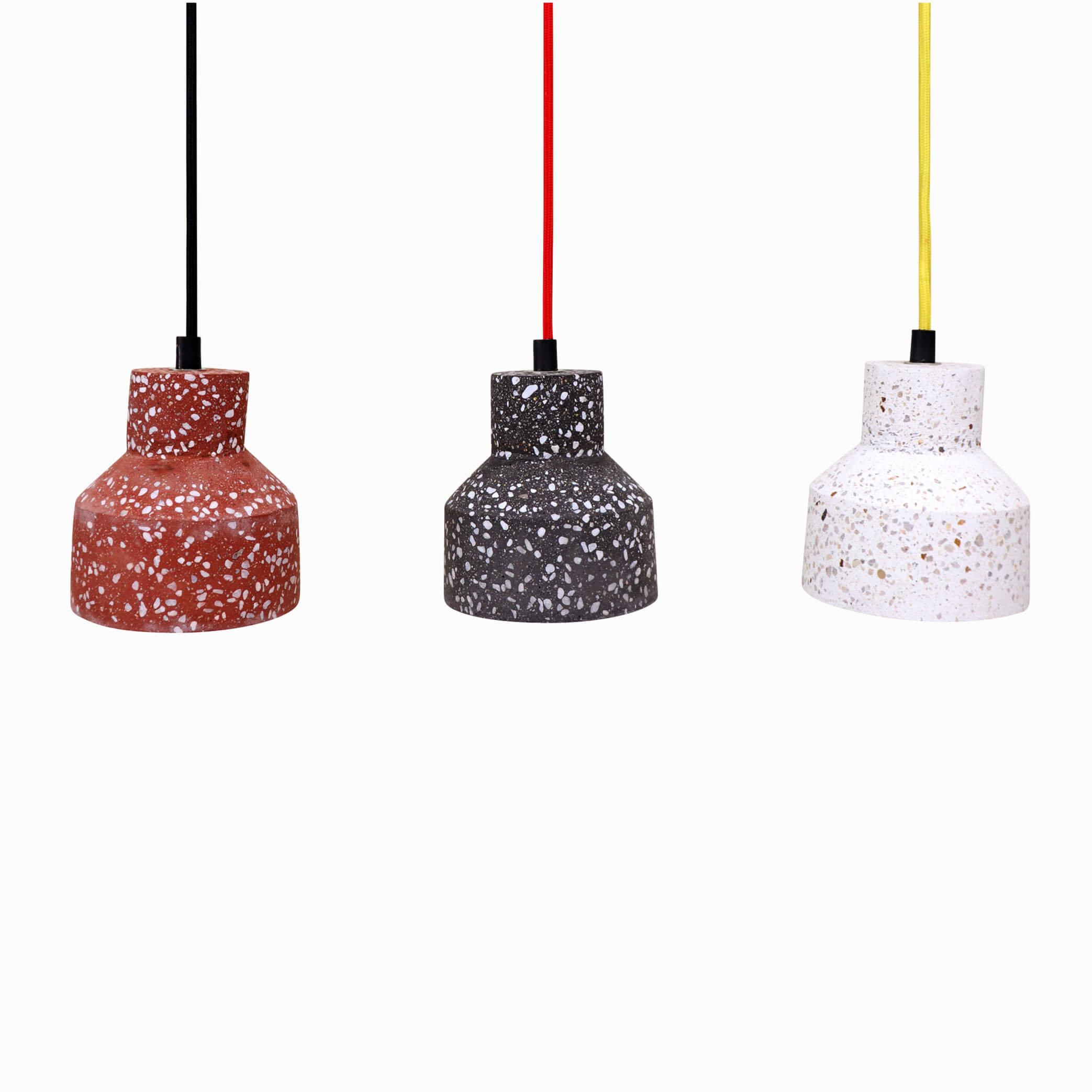 Pendant Light – Ceiling Light Fixture   Kitchen & Dining Lighting   Hanging Lamp   Modern Lighting   (red, Black And White Terrazzo) Inside Kraker 1 Light Single Cylinder Pendants (View 21 of 30)