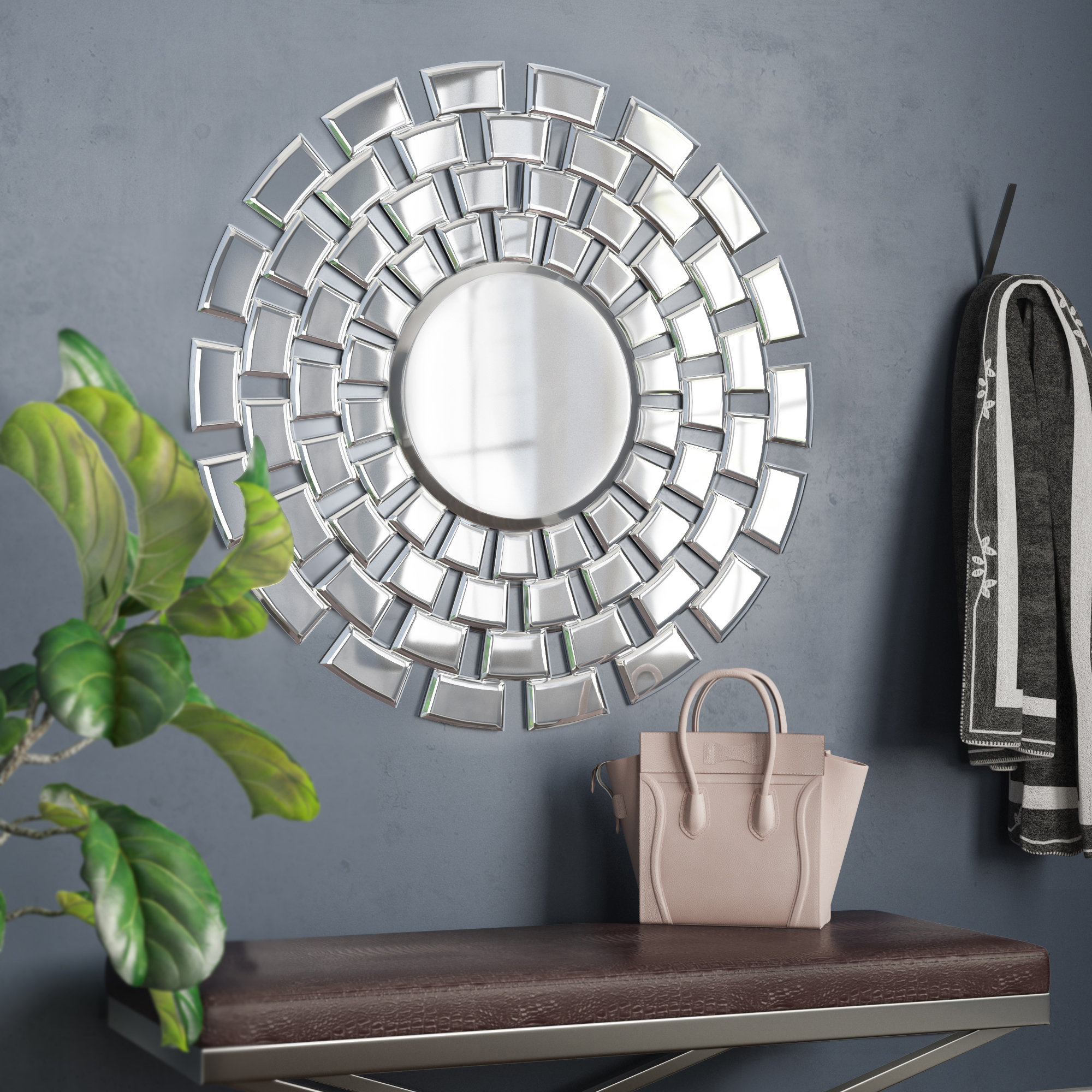 Pennsburg Round Accent Wall Mirror with Pennsburg Rectangle Wall Mirrors (Image 18 of 30)