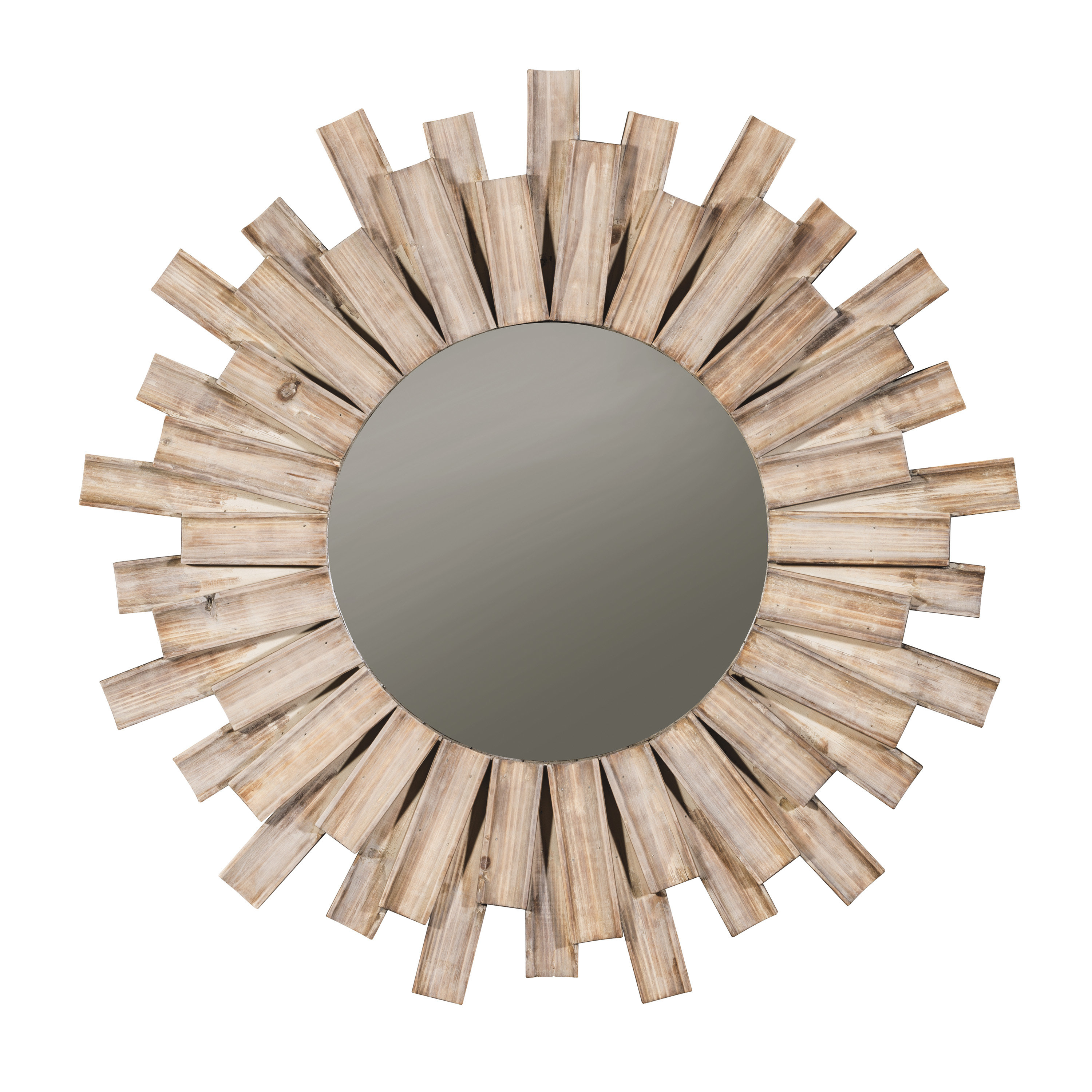 Perillo Burst Wood Accent Mirror Throughout Wood Accent Mirrors (View 5 of 30)