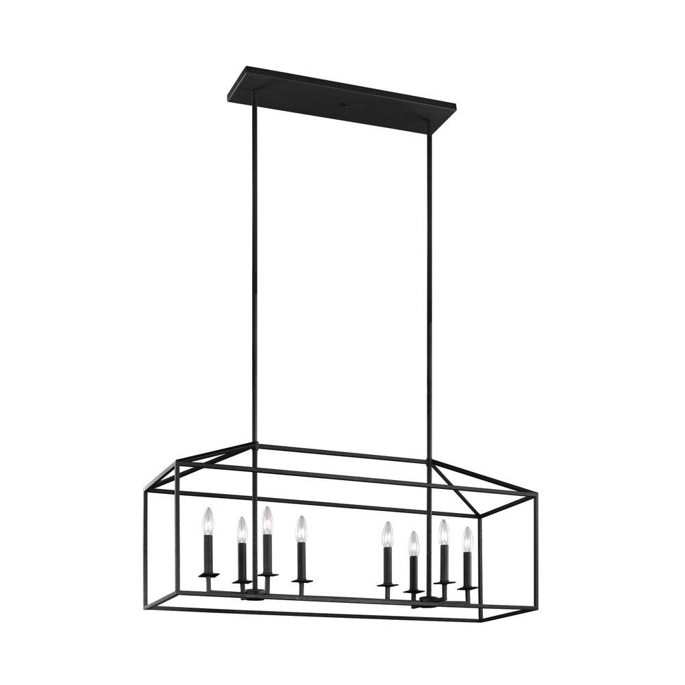 Perryton 40 In. W. 8-Light Blacksmith Island Chandelier for Schutt 4-Light Kitchen Island Pendants (Image 18 of 30)