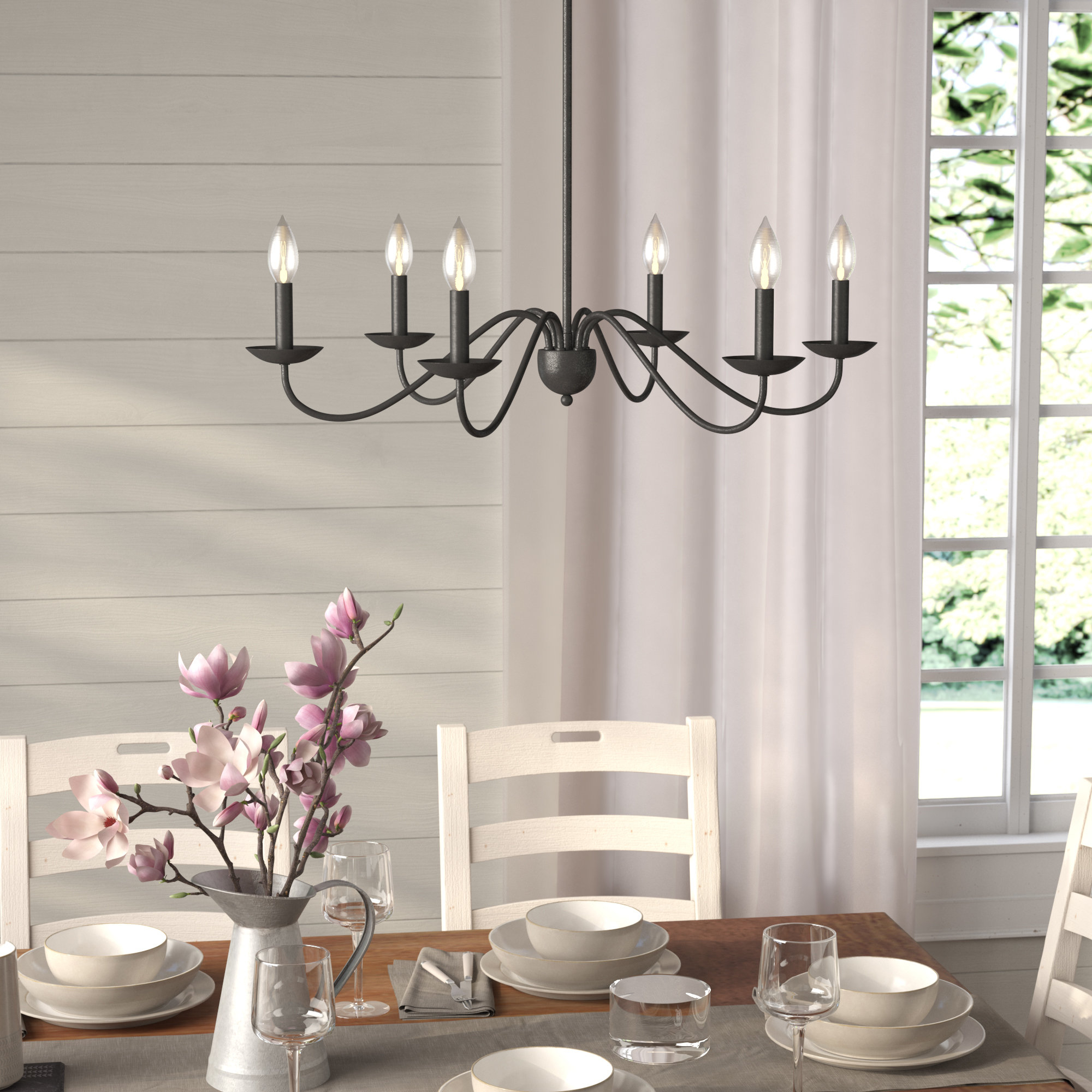 Perseus 6 Light Candle Style Chandelier Pertaining To Hamza 6 Light Candle Style Chandeliers (View 3 of 30)
