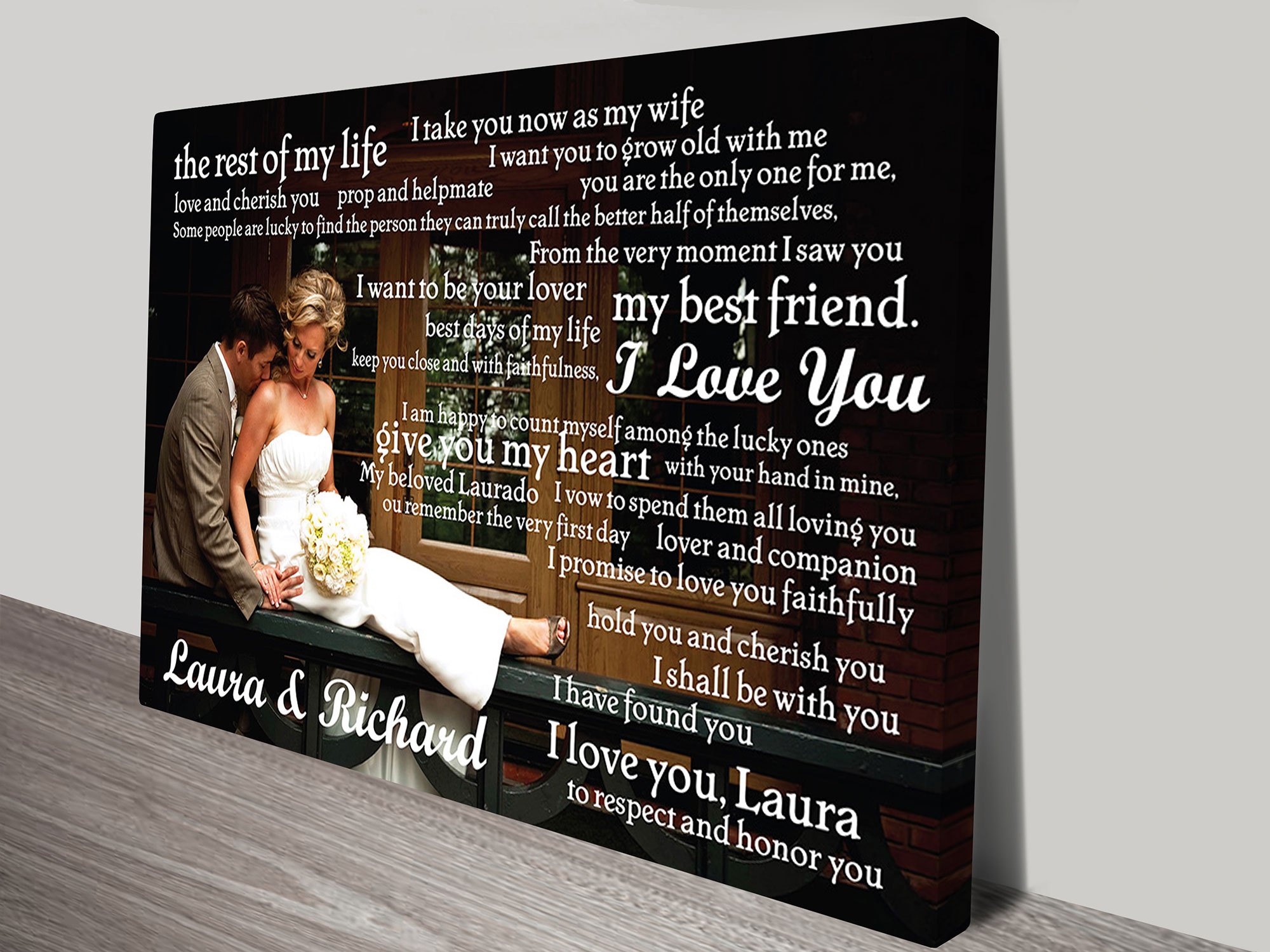 """Personalised Canvas Word Art And Wedding Wall Art Gift Ideas intended for In-A-Word """"welcome"""" Wall Decor (Image 19 of 30)"""