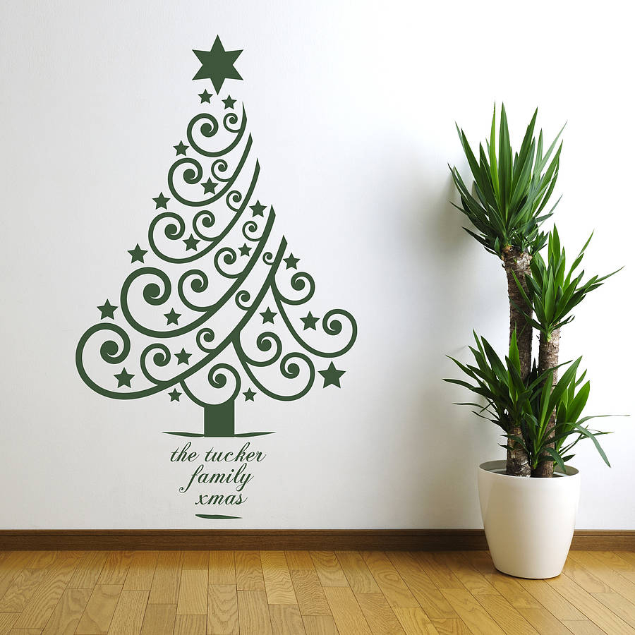 Personalised Xmas Tree Wall Sticker For Tree Wall Decor (View 18 of 30)