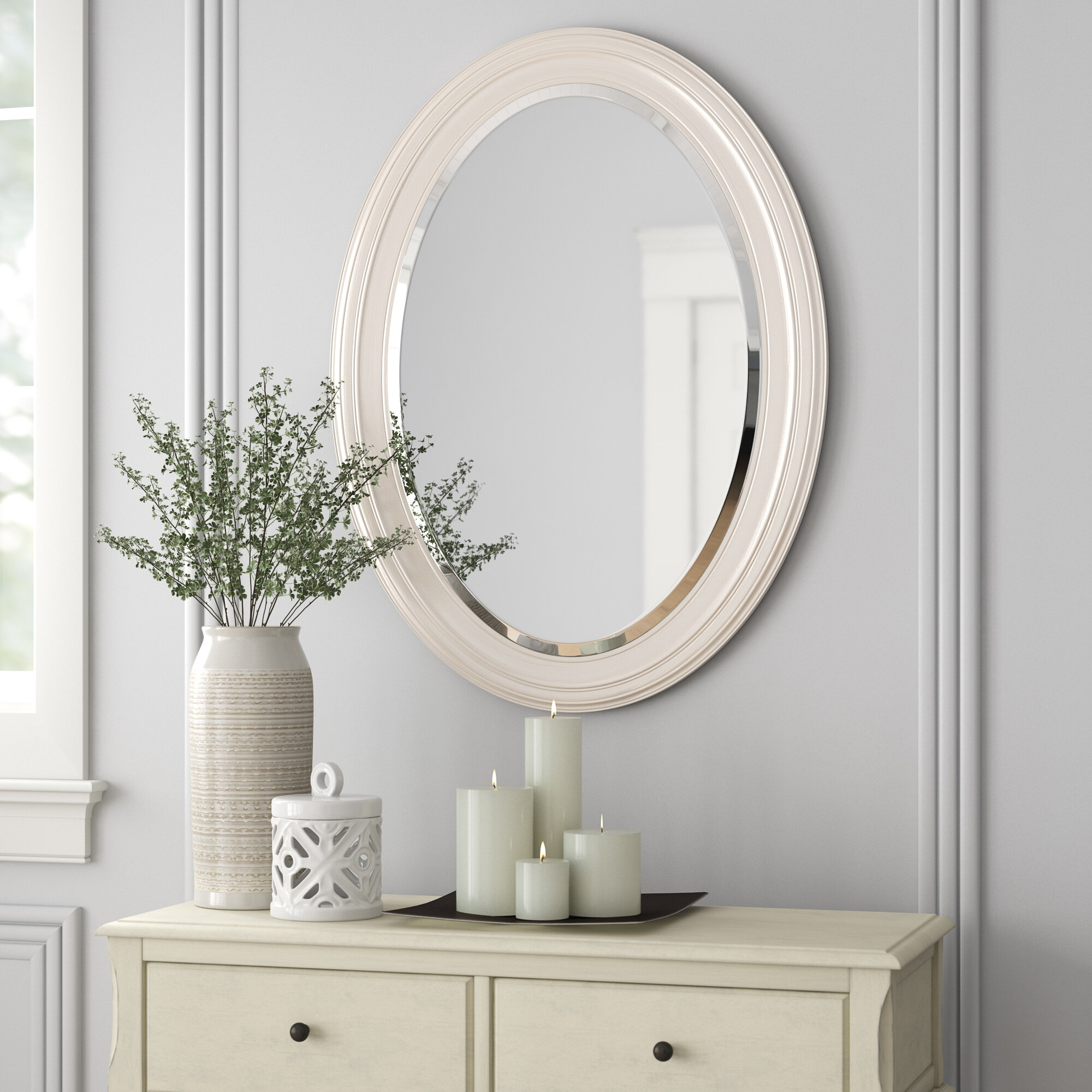 Pfister Oval Wood Wall Mirror Intended For Oval Wood Wall Mirrors (View 22 of 30)