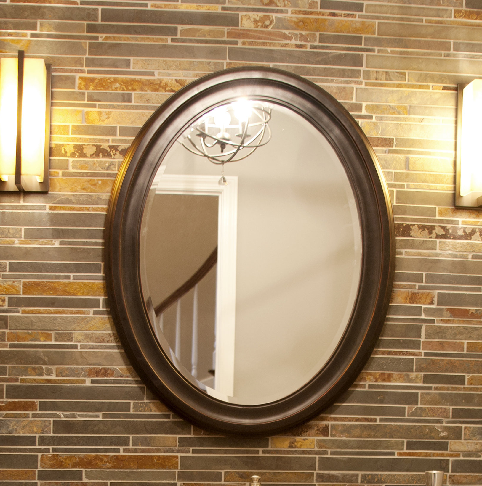 Pfister Oval Wood Wall Mirror With Regard To Oval Wood Wall Mirrors (View 23 of 30)