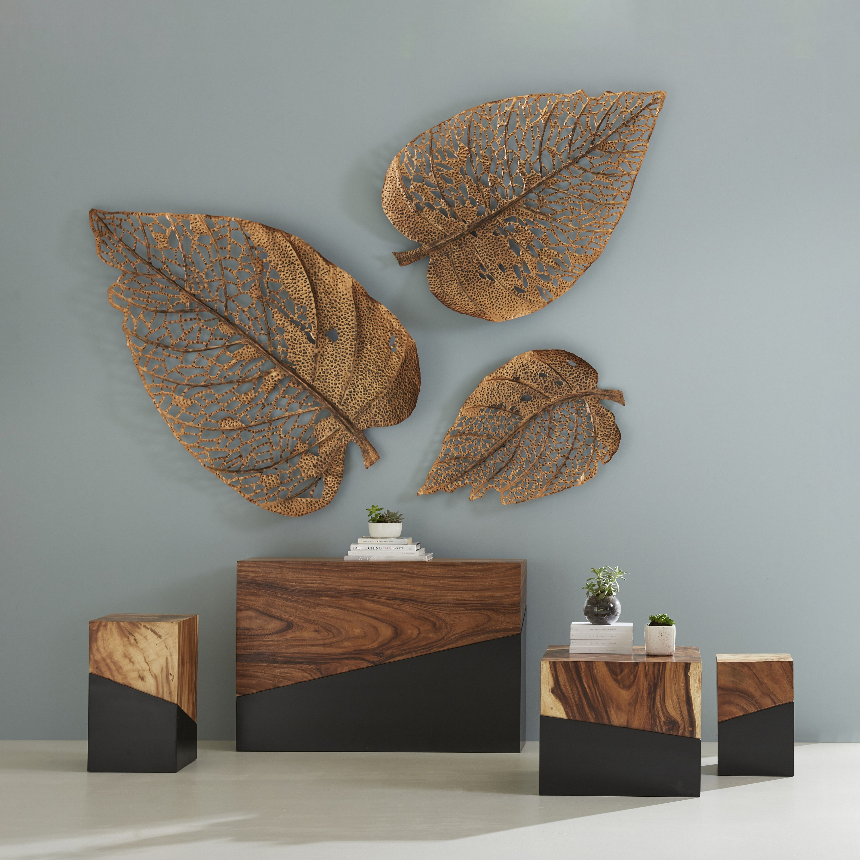 Phillips Collection – Every Piece Of Conversation With Tree Shell Leaves Sculpture Wall Decor (View 24 of 30)