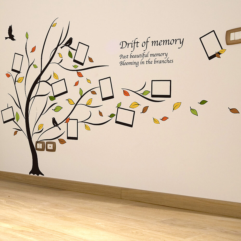 Photo Frame Family Tree Wall Stickers In Tree Wall Decor (View 6 of 30)