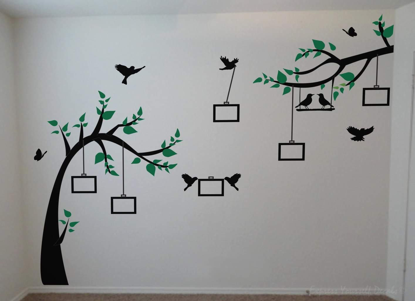 Photo Tree Wall Decal | Wall Art Decal Sticker With Regard To Tree Wall Decor (View 14 of 30)