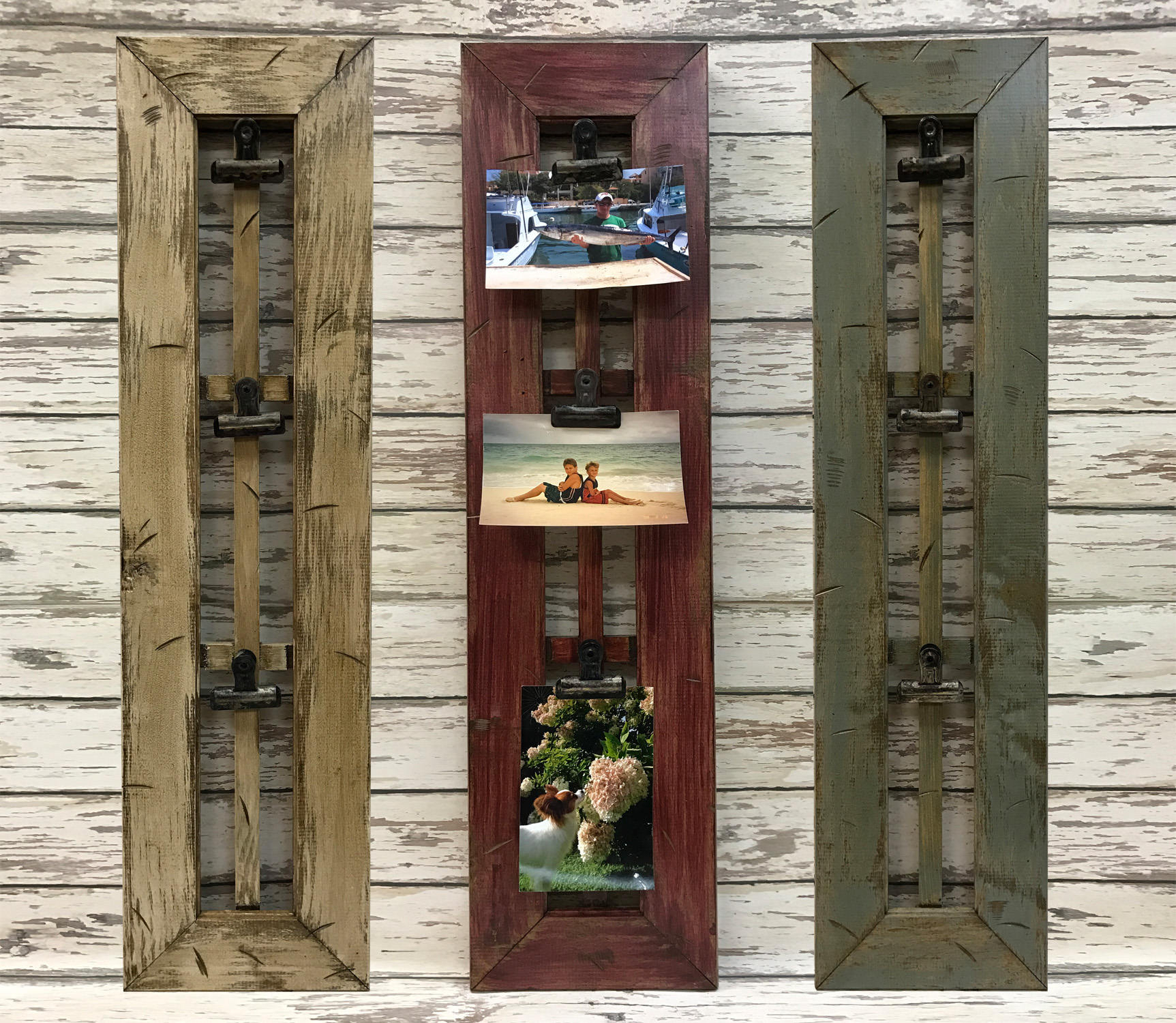 Picture Frame Wood Rustic Window Pane Clips Photo Holder with regard to Old Rustic Barn Window Frame (Image 22 of 30)