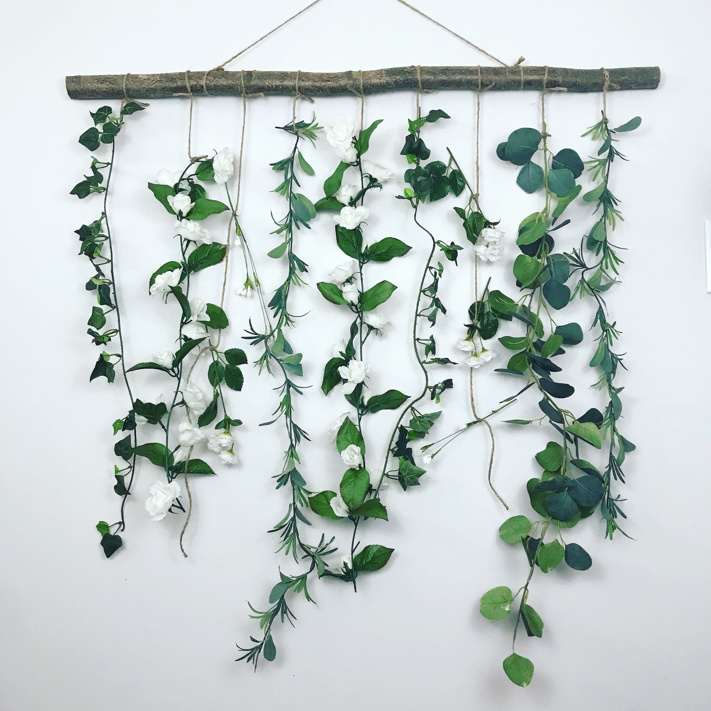 Pinallison On For The Home In 2019   Hanging Flower Wall Within Three Flowers On Vine Wall Decor (View 3 of 30)