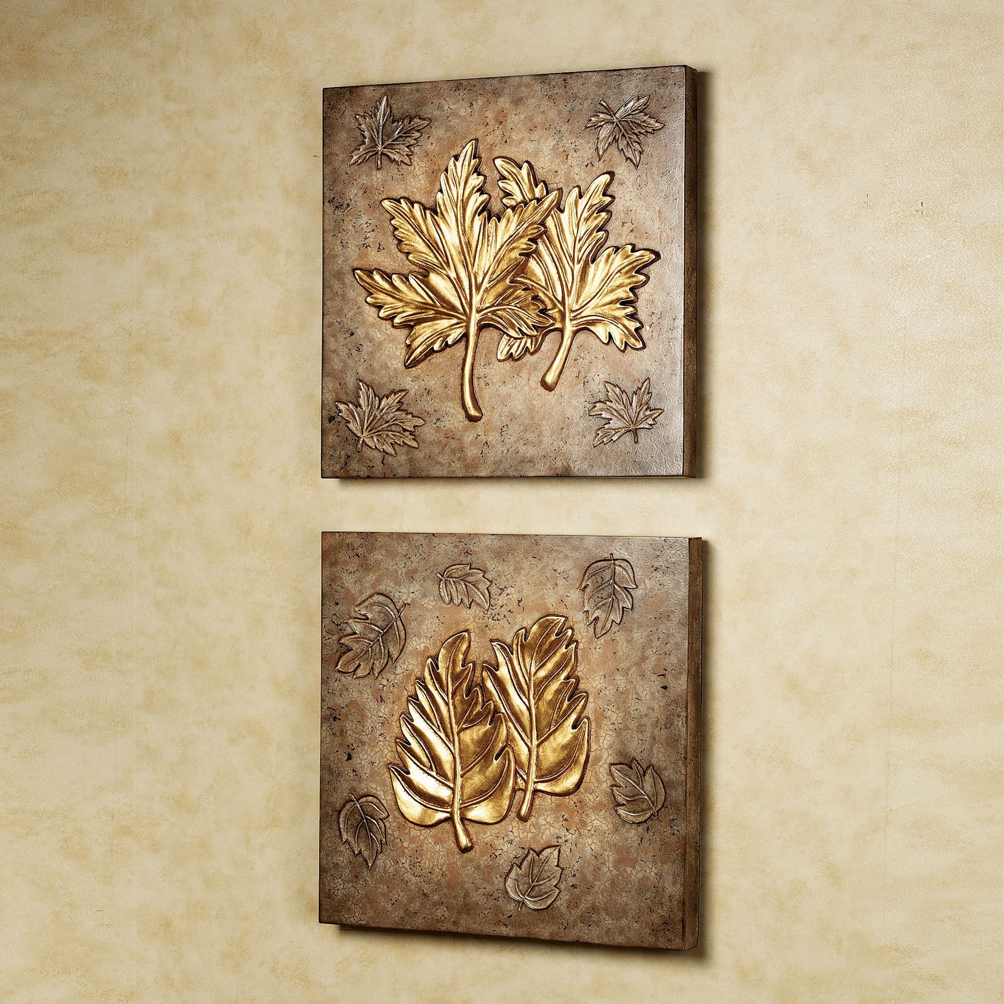 Pindolly Walker On Gold Leaf | Wall Art Sets, Wall Intended For Leaves Metal Sculpture Wall Decor By Winston Porter (View 15 of 30)