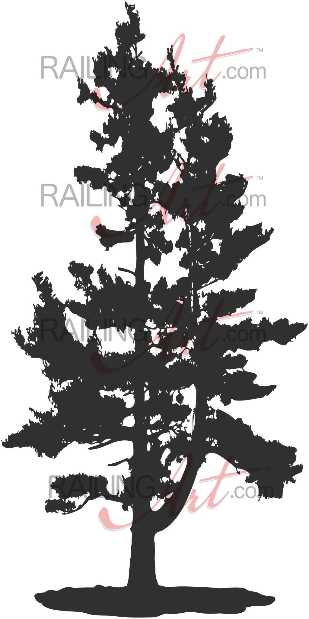 Pine Tree – Custom Laser Cut Metal Art   Railingart With Regard To Windswept Tree Wall Decor (View 22 of 30)
