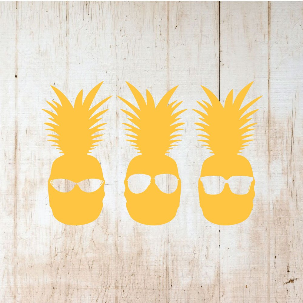 Pineapple Wall Decor Cool Vinyl Decor Wall Decal Throughout Pineapple Wall Decor (View 21 of 30)