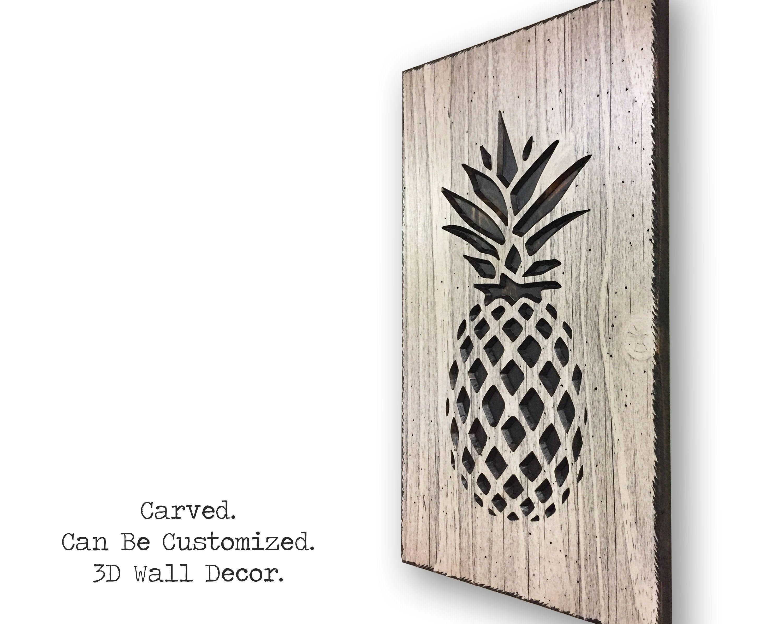 Pineapple Wall Decor, Pineapple Art, Tropical, Kitchen Decor For Pineapple Wall Decor (View 16 of 30)